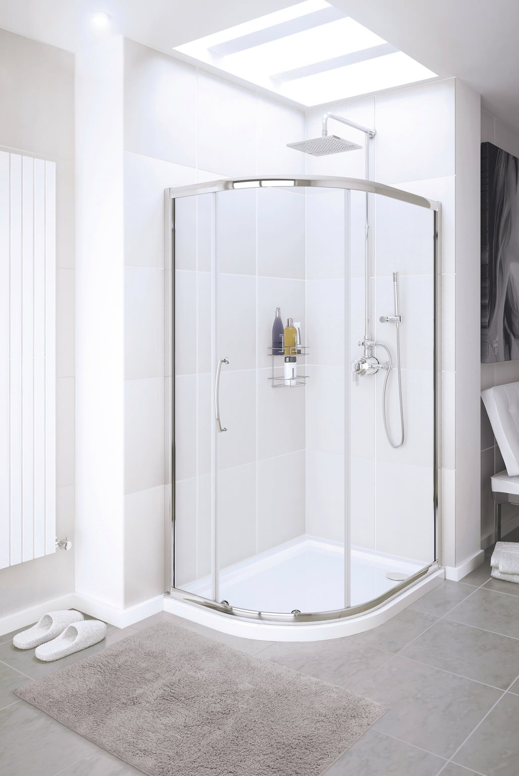 Lakes Classic Single Door Offset Quadrant Shower Enclosure