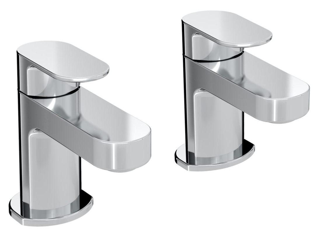 Bristan Frenzy Pair of Deck Mounted Bath Taps - FRZ 3/4 C