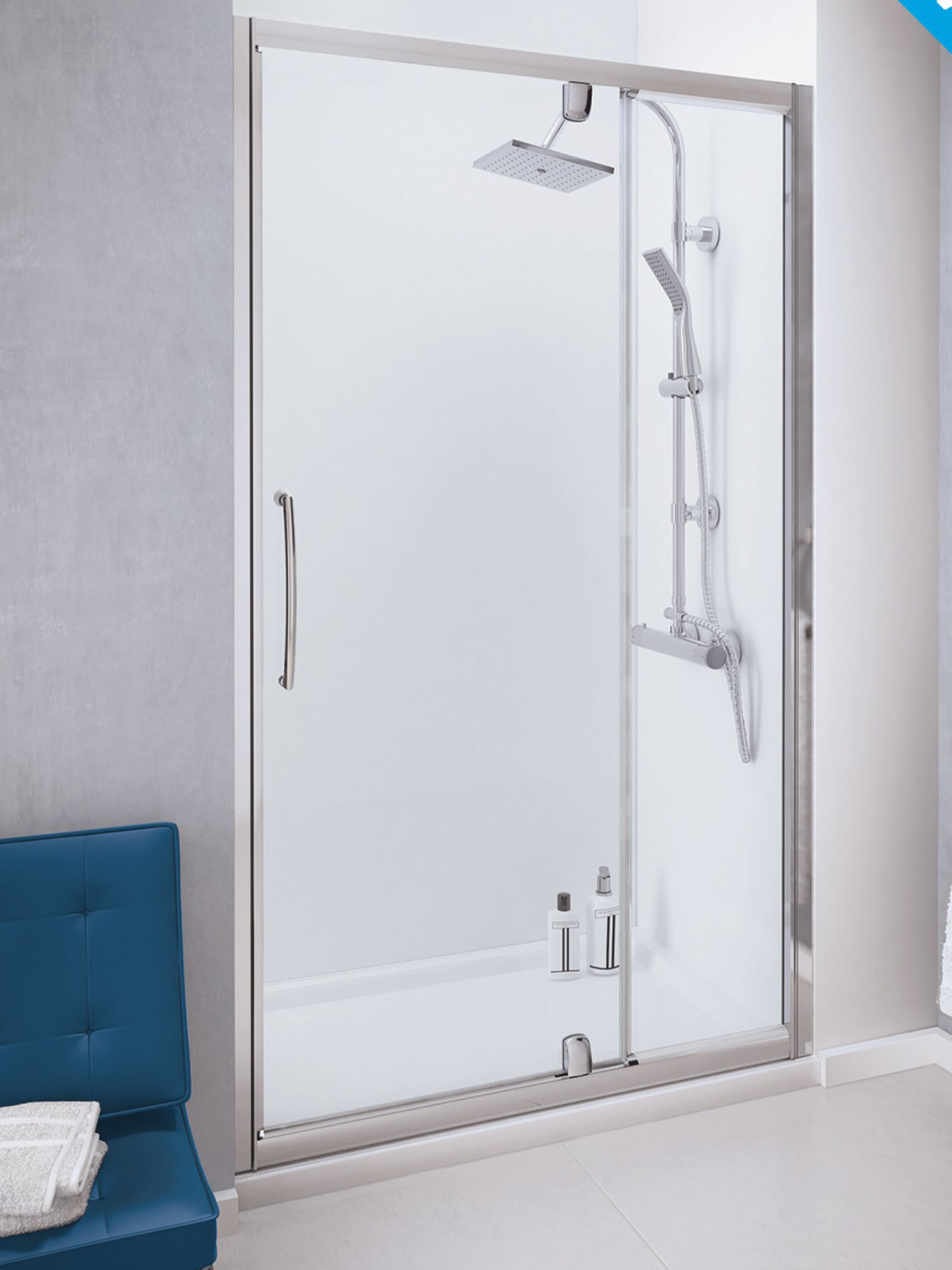 Lakes Classic 1000mm Semi Frameless Pivot Door With
