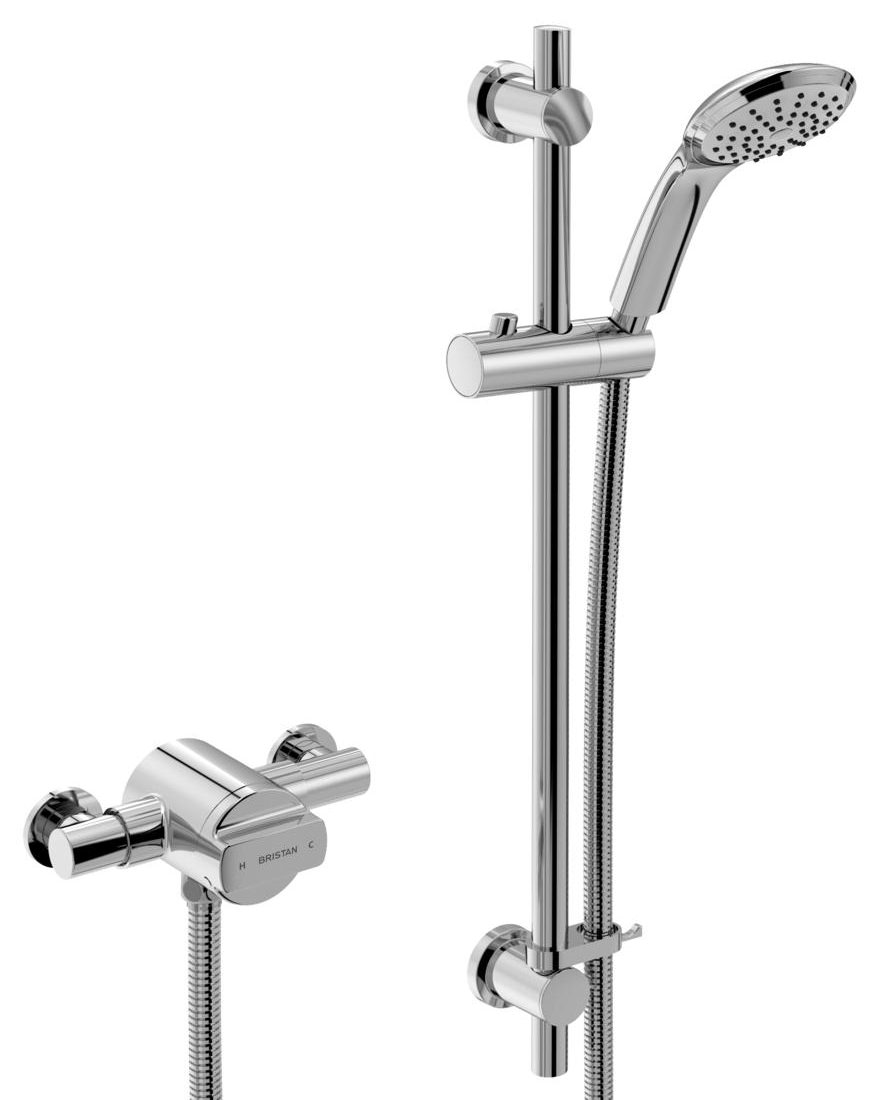 Bristan Quest Thermostatic Exposed Single Control Shower Valve With ...