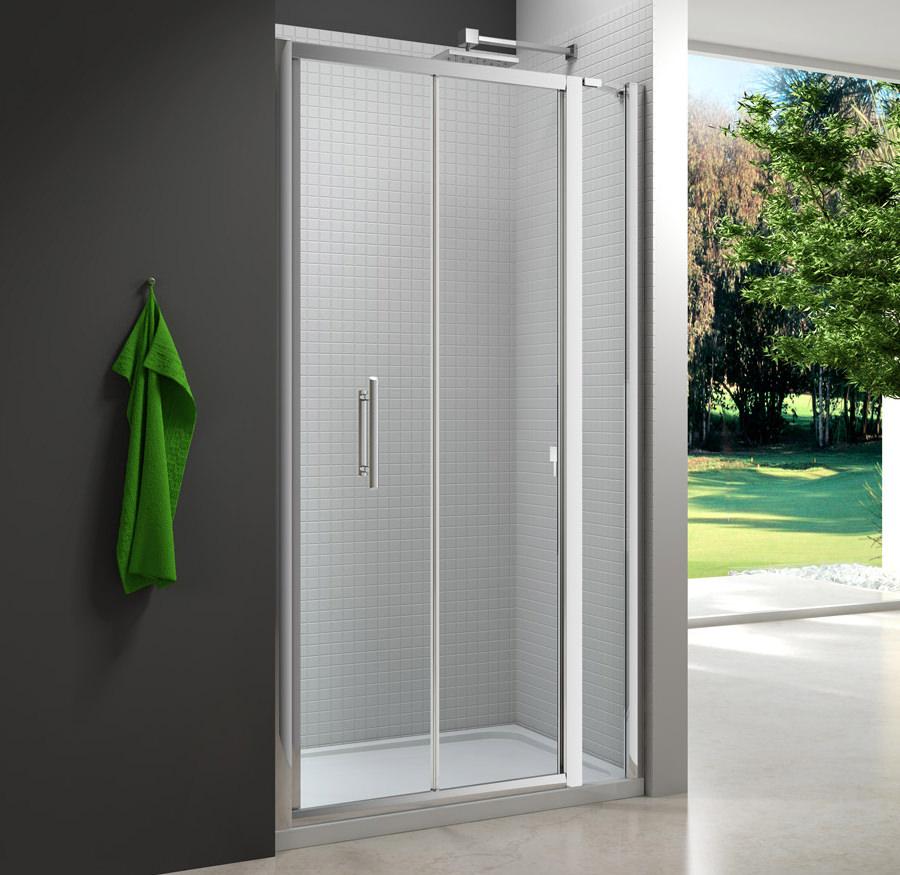 Merlyn 6 series 1000mm bifold door and 215mm inline panel for 1000mm door