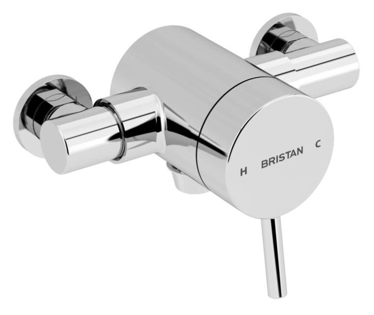 Bristan Prism Thermostatic Exposed Bottom Outlet Single Control ...