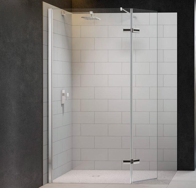 Merlyn 8 Series 1050mm Showerwall With Hinged Swivel Panel