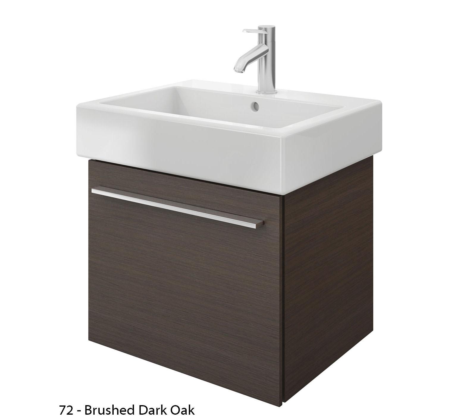 duravit x large 550mm vanity unit with 600mm vero. Black Bedroom Furniture Sets. Home Design Ideas