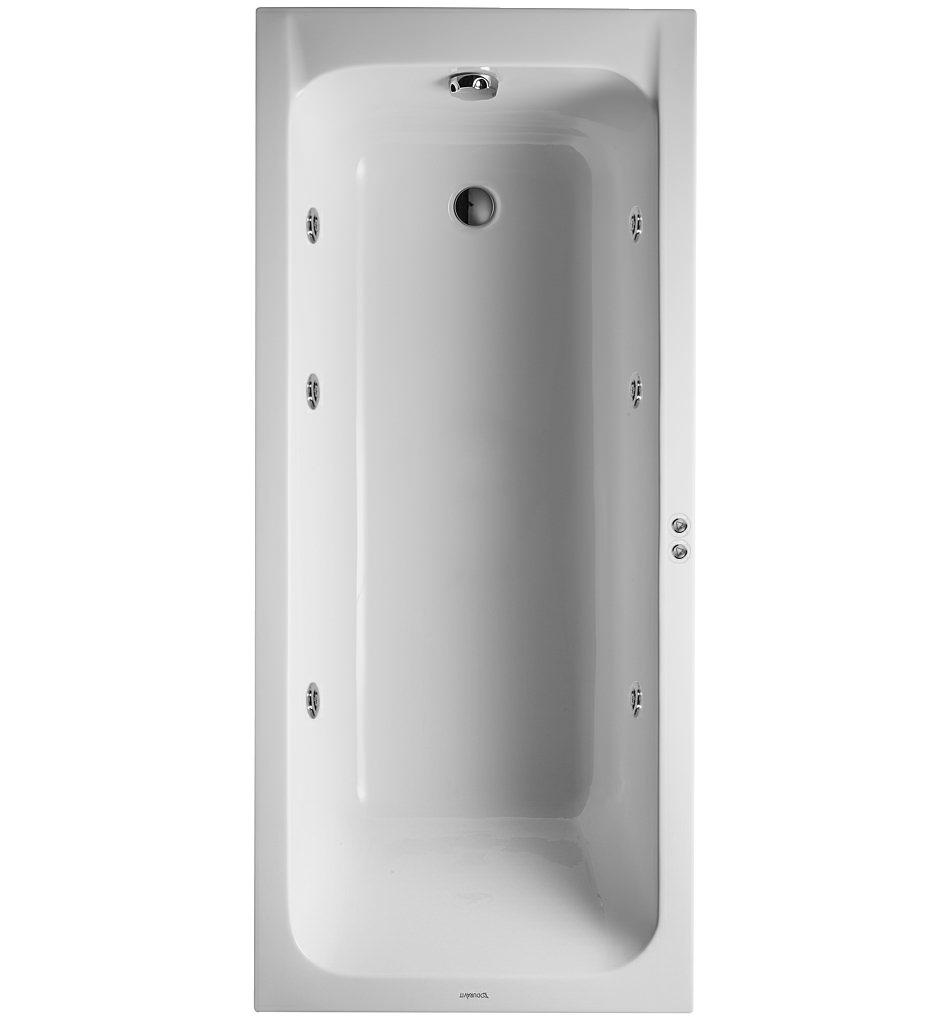 duravit d code 1700x750mm bath outlet in foot area jet. Black Bedroom Furniture Sets. Home Design Ideas