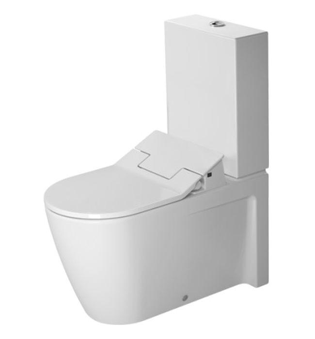 duravit sensowash slim seat with starck 2 close coupled toilet. Black Bedroom Furniture Sets. Home Design Ideas