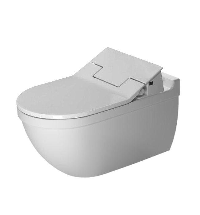 duravit sensowash slim seat with starck 3 wall mounted toilet. Black Bedroom Furniture Sets. Home Design Ideas