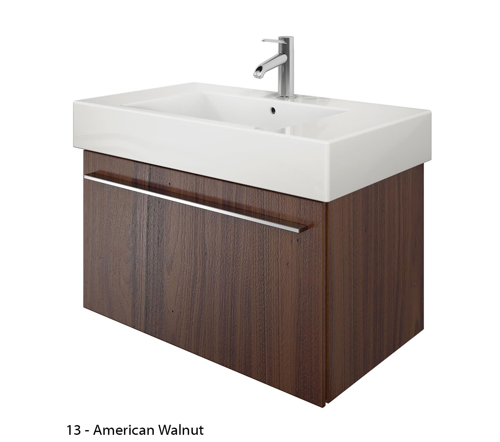 Duravit x large 800mm vanity unit with 850mm vero - Duravit bathroom furniture uk ...