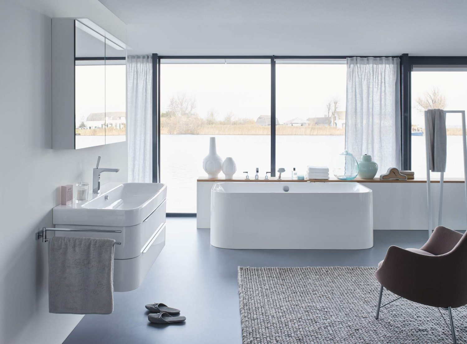 Duravit Happy D2 Back To Wall 1800 X 800mm Bath With Panel