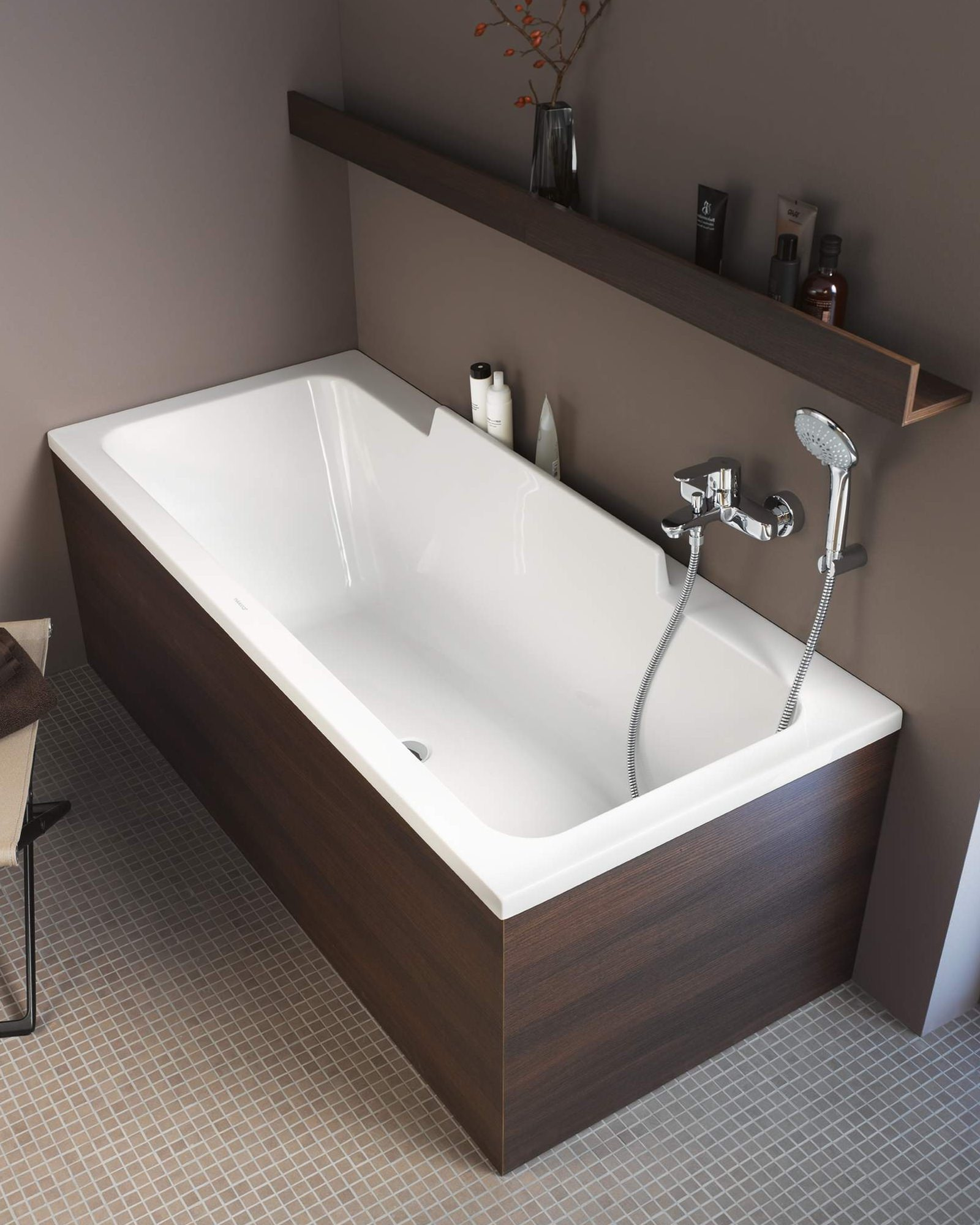 duravit durastyle 1600 x 700mm bath with left slope and support frame