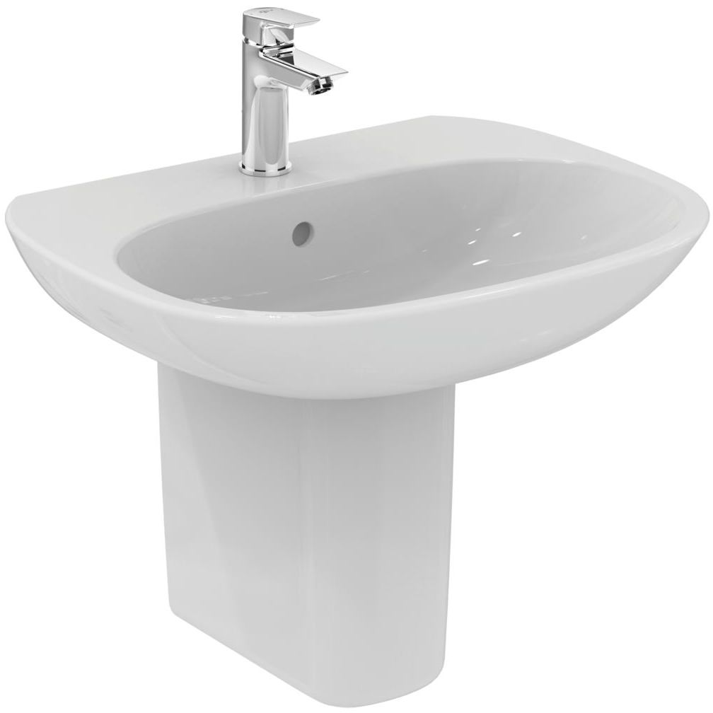 Ideal standard tesi 600 x 475mm washbasin t026501 for Ideal standard tesi scheda tecnica
