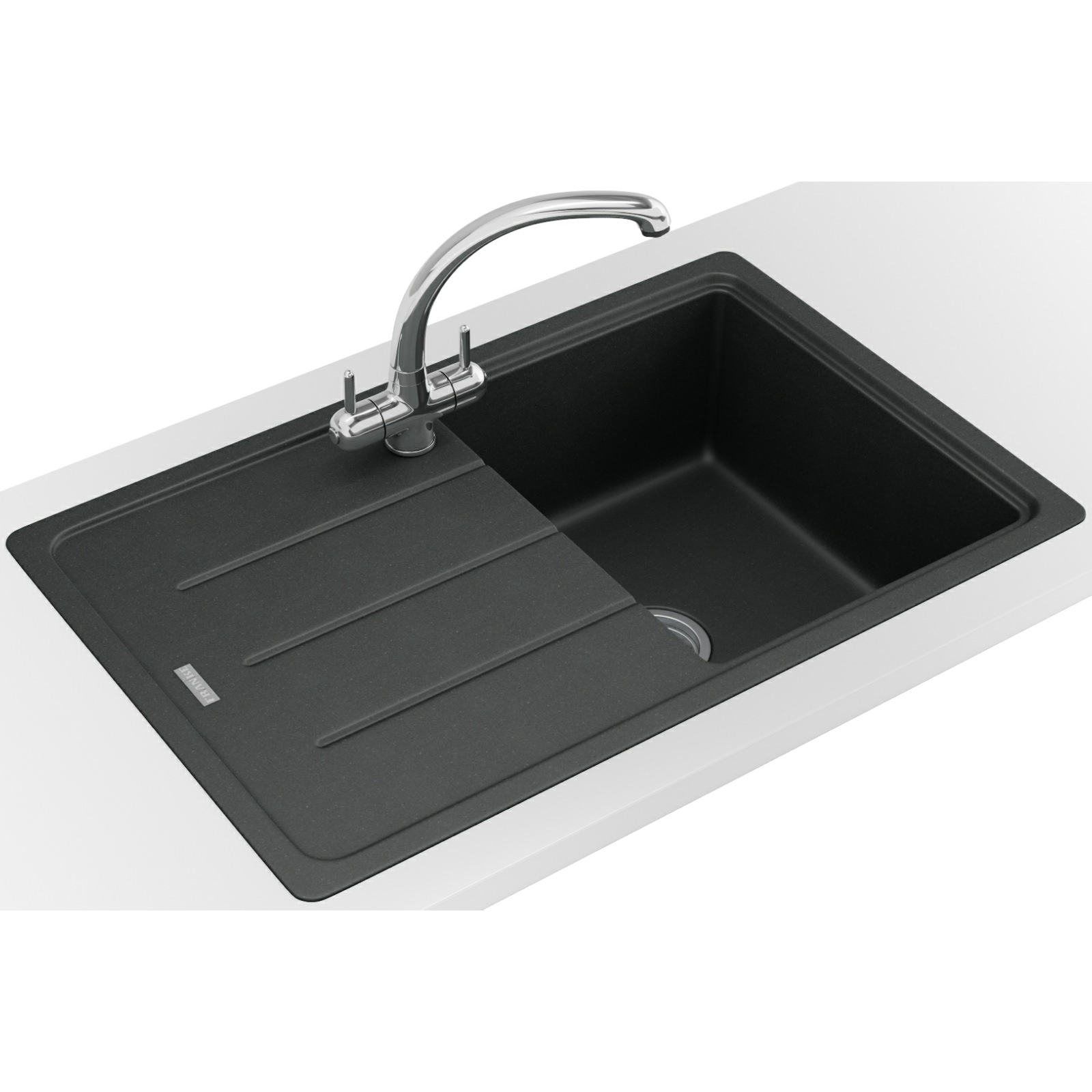 ... Franke Basis BFG 611-780 Fragranite Onyx 1.0 Bowl Kitchen Inset Sink