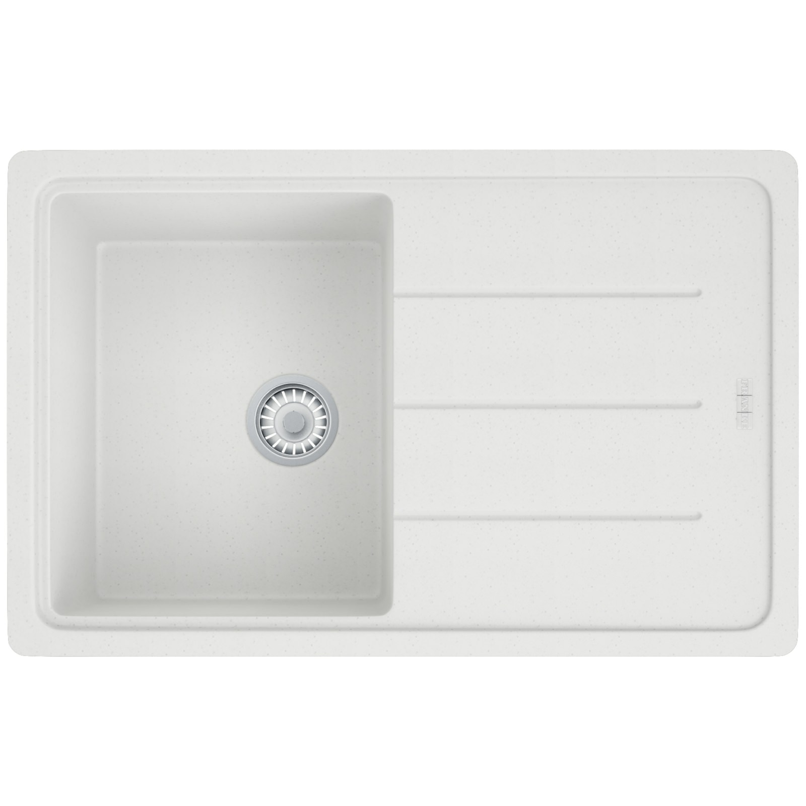 Franke Basis BFG 611-780 Fragranite Polar White 1.0 Bowl Kitchen Inset ...