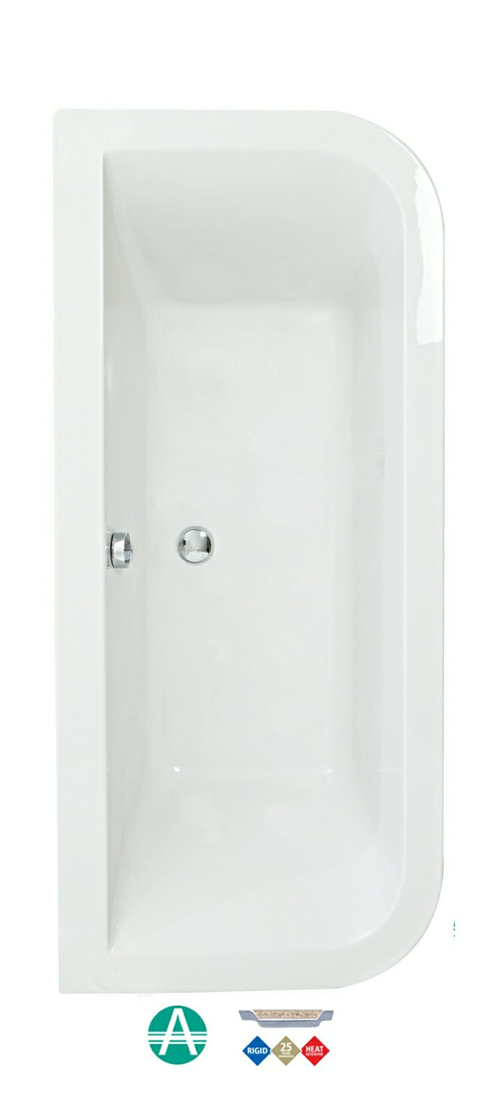 Phoenix Sima Amanzonite 1700 X 750 Double Ended Bath With