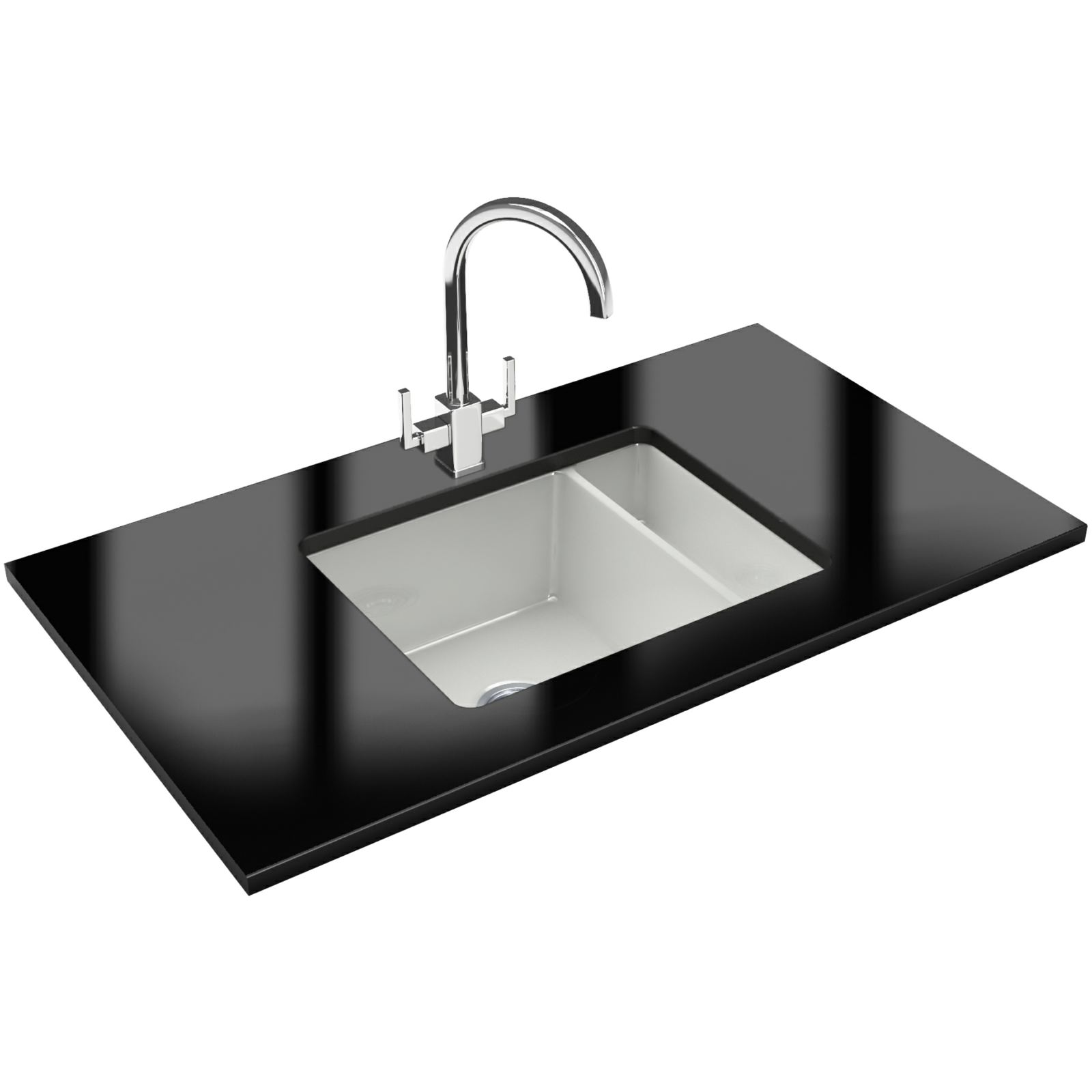 Franke kubus designer pack kbk 160 ceramic kitchen sink and tap
