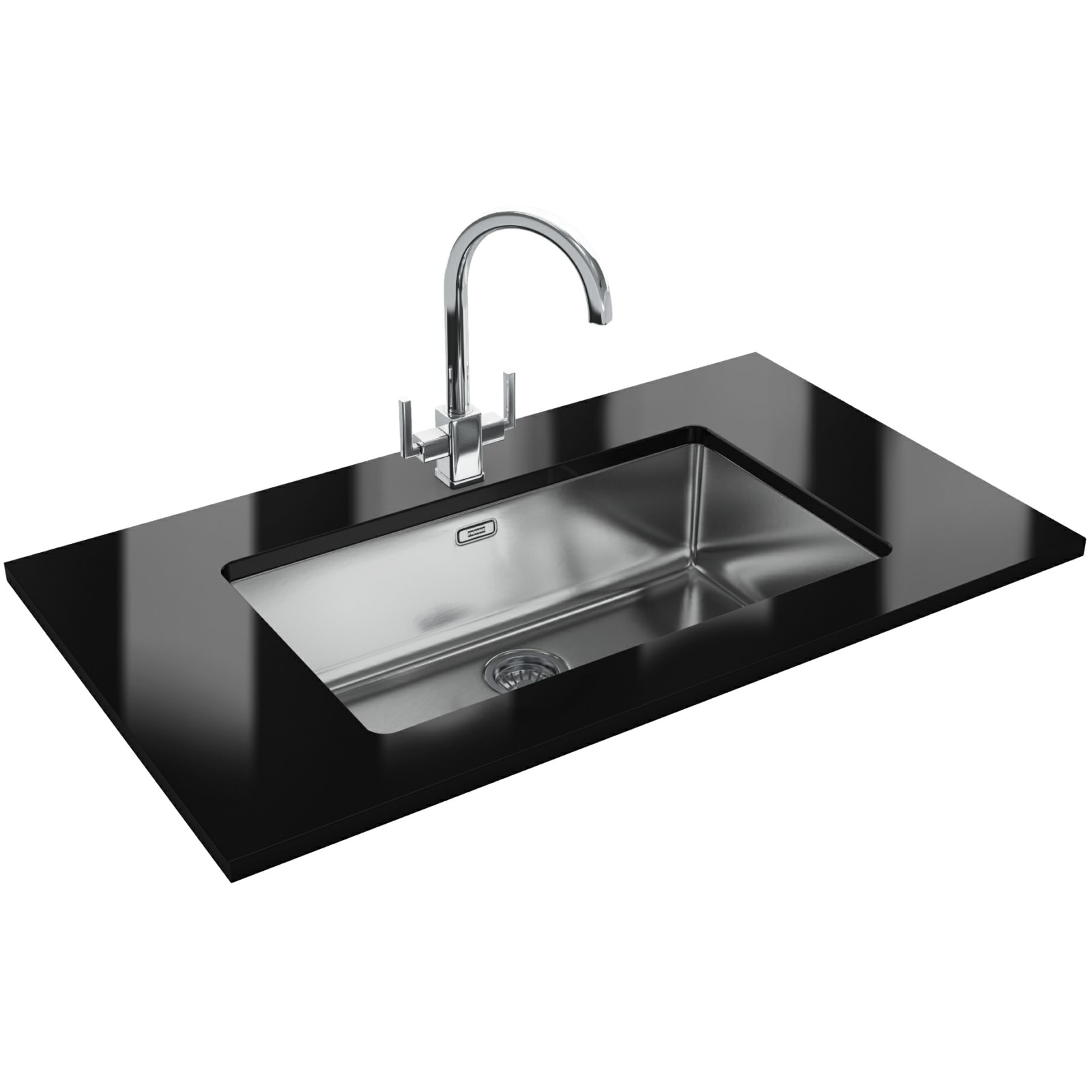 designer kitchen sinks uk franke kubus designer pack kbx 110 70 stainless steel 170