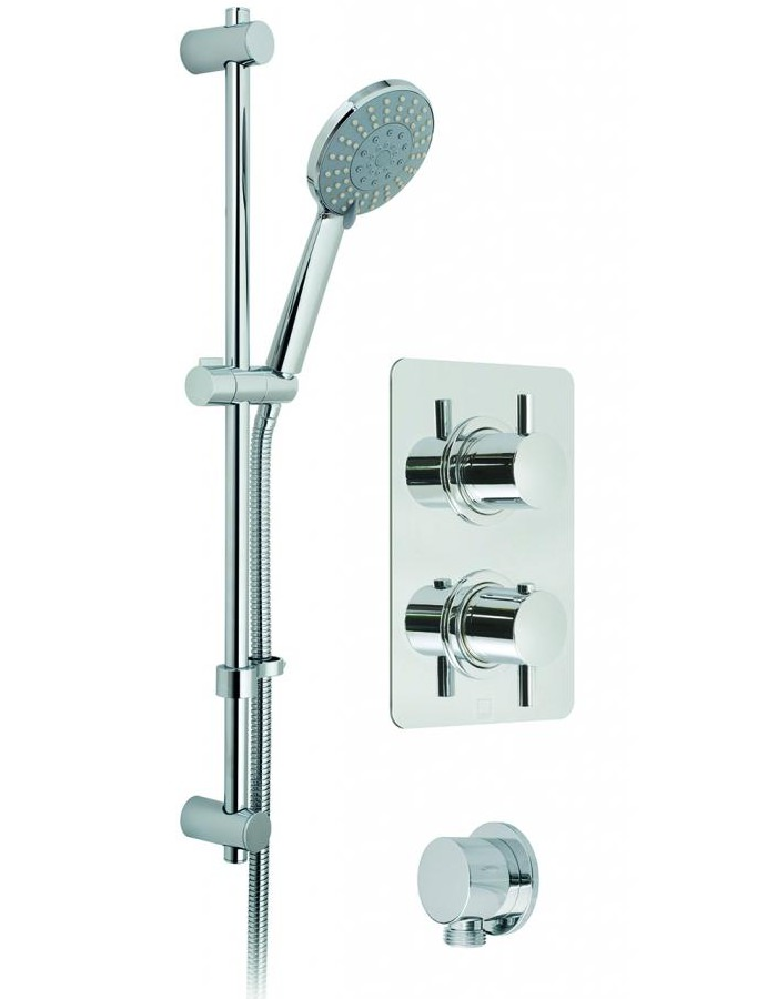 Vado Celsius Square Thermostatic Valve With Evolve Slide