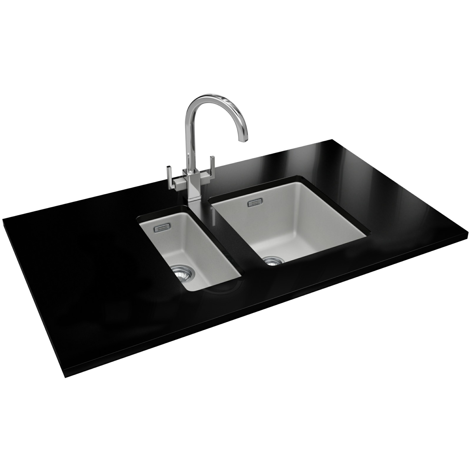 Franke Fragranite Undermount Sink : ... Franke Kubus KBG 110 34 Fragranite Polar White 1.0 Bowl Undermount