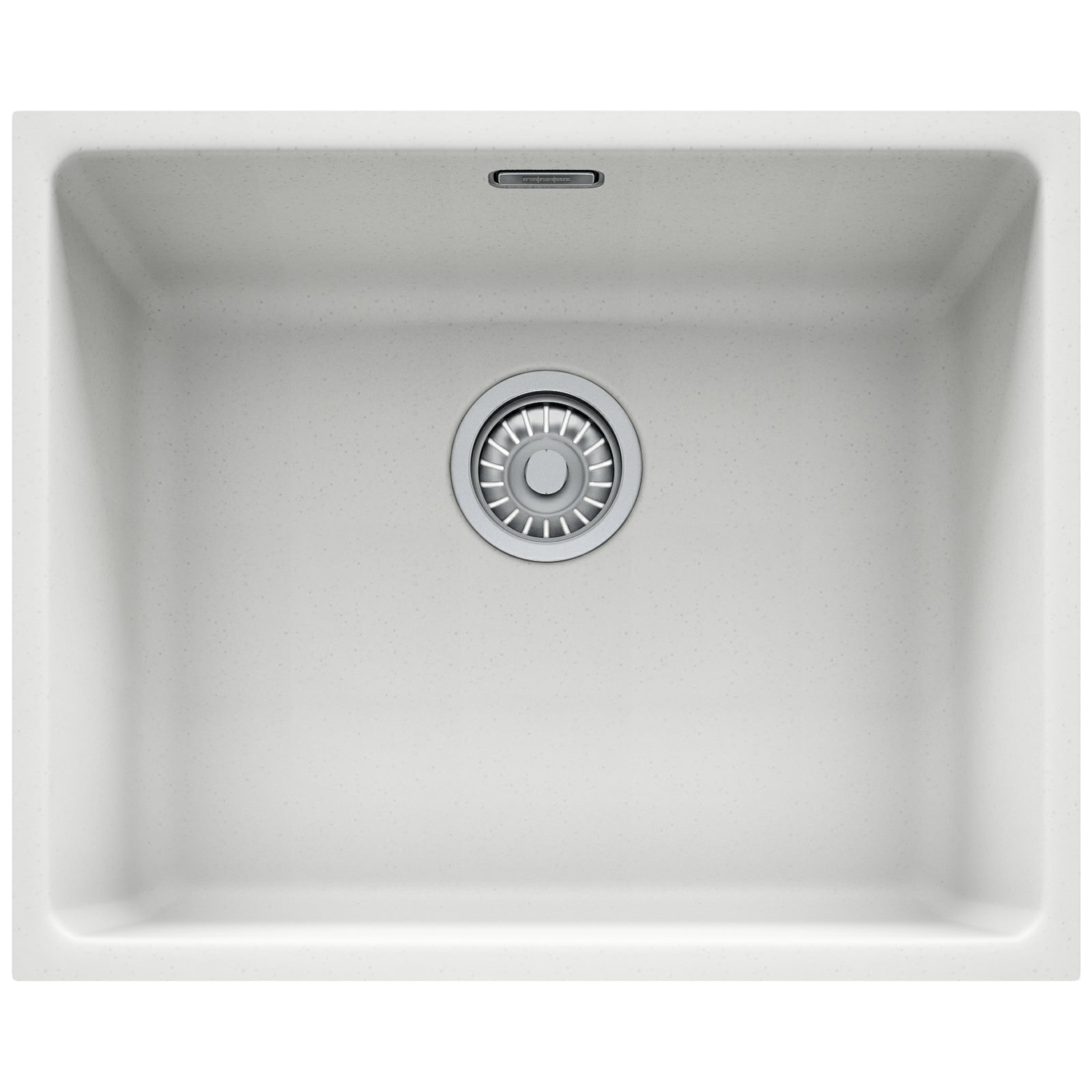 Franke Kubus KBG 110 50 Fragranite 1.0 Bowl Polar White Undermount Sink ...