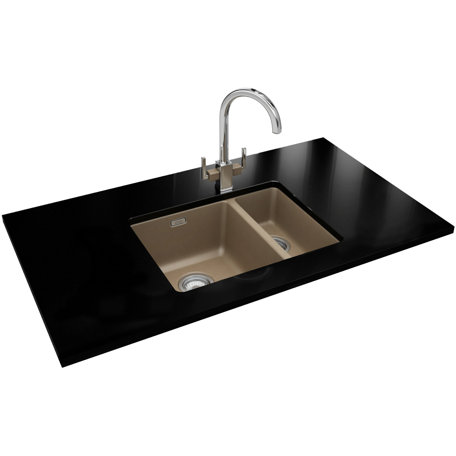 Franke Sinks And Taps : Franke Kubus Designer Pack KBG 160 Fragranite Oyster Sink And Tap ...