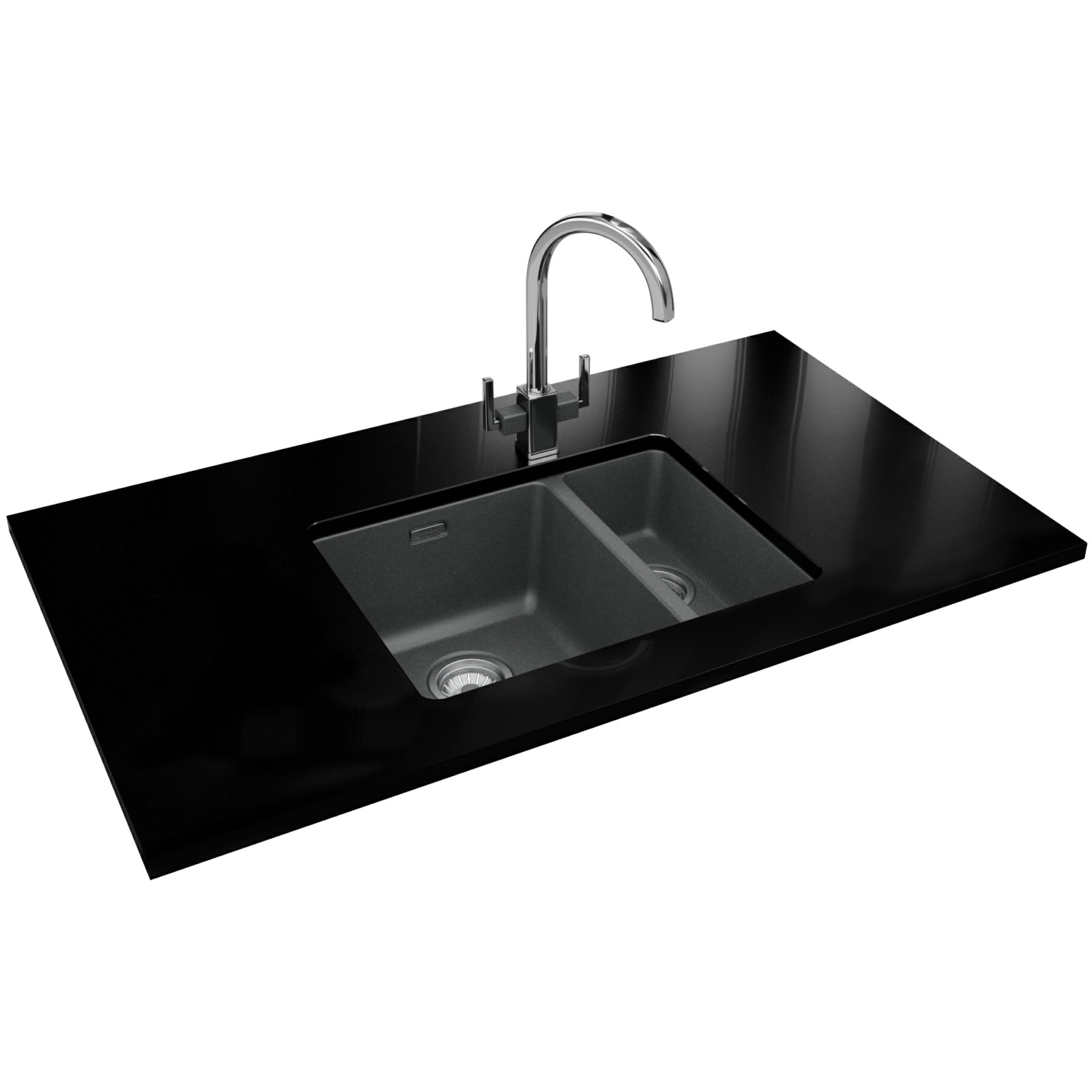 Franke Grey Sink : Franke Kubus Designer Pack KBG 160 Fragranite Stone Grey Sink And Tap ...