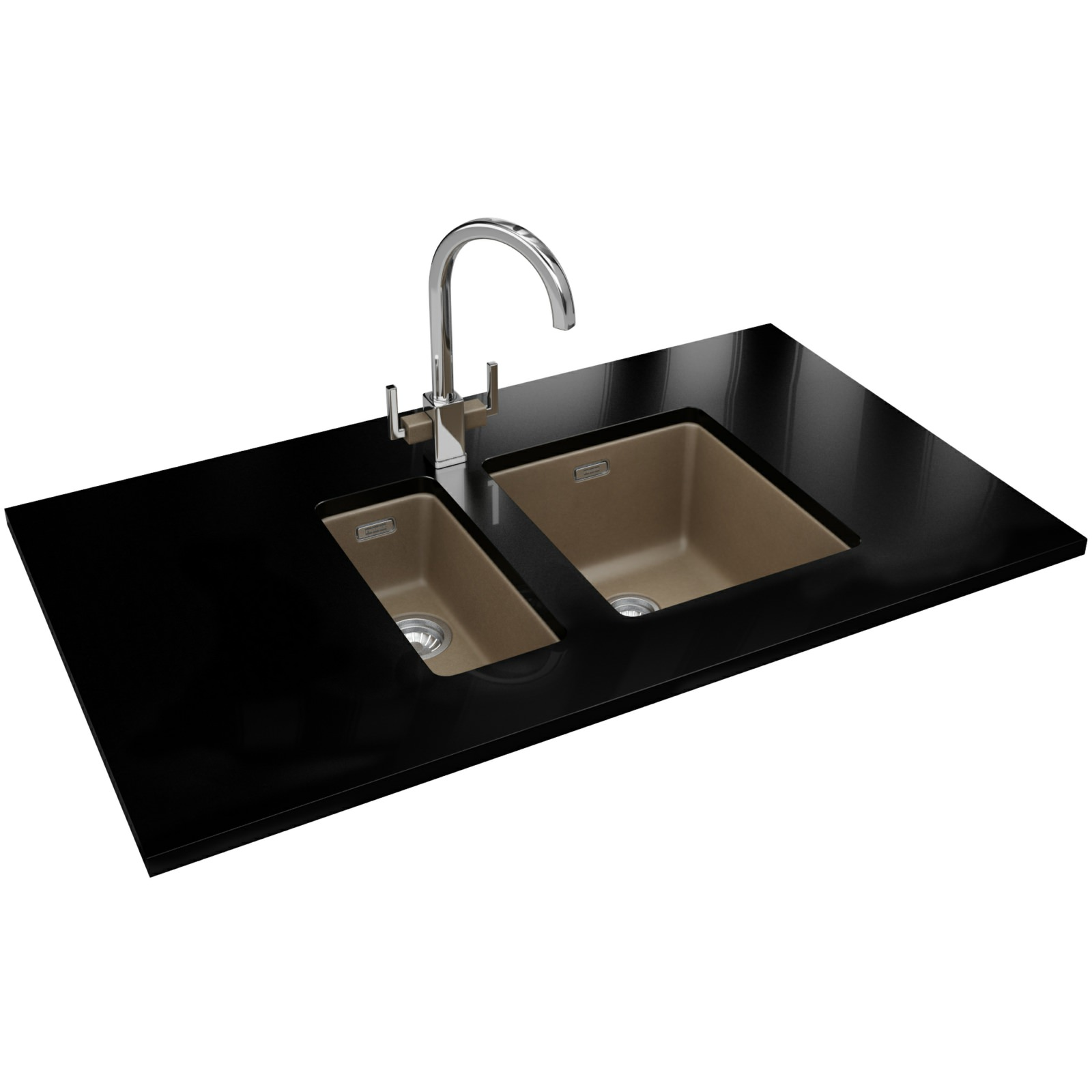 Franke Sink Kubus : Franke Kubus KBG 110 16 Fragranite Oyster 1.0 Bowl Kitchen Undermount ...
