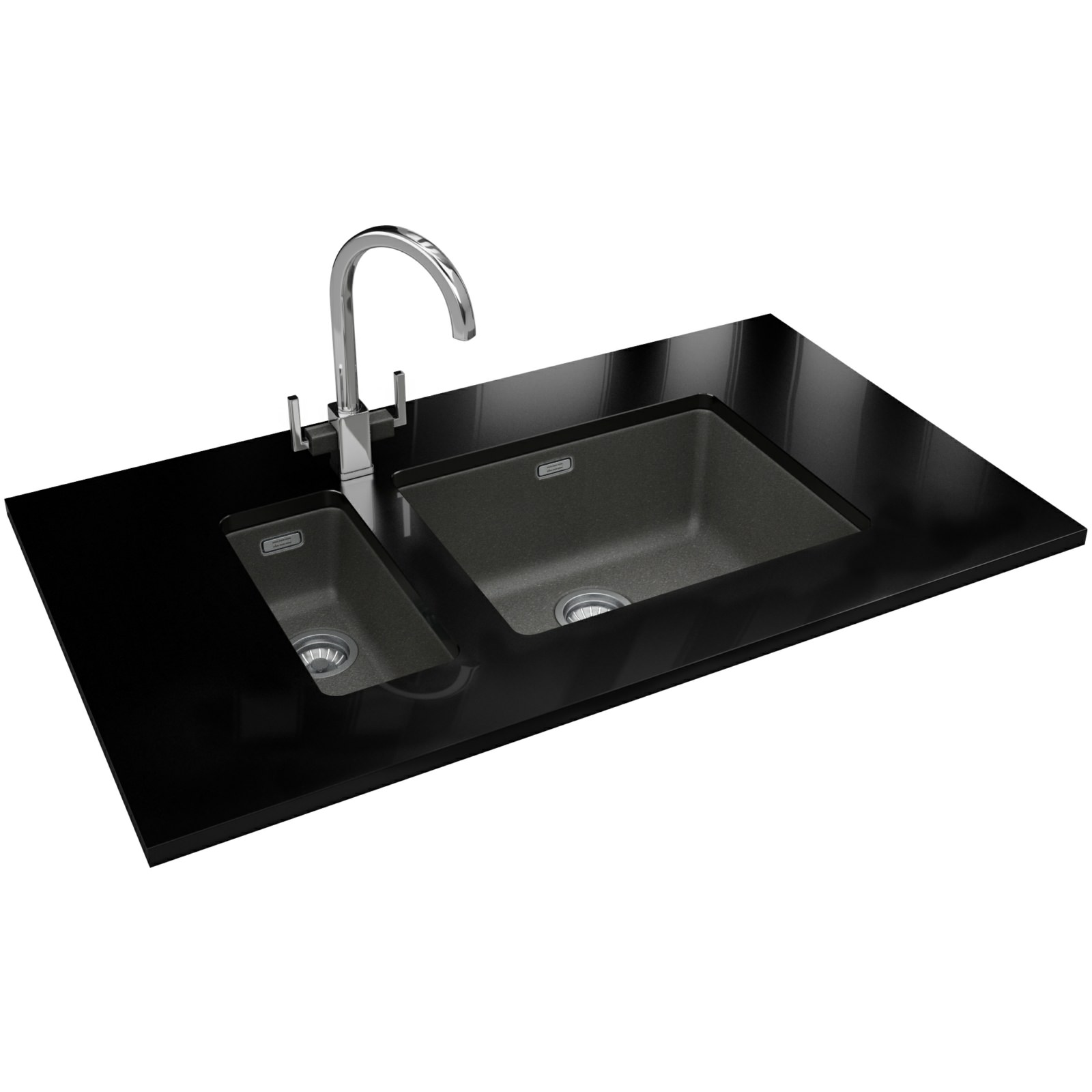 Franke Grey Sink : Franke Kubus DP KBG 110 16 + KBG 110 50 Fragranite Stone Grey Sink And ...