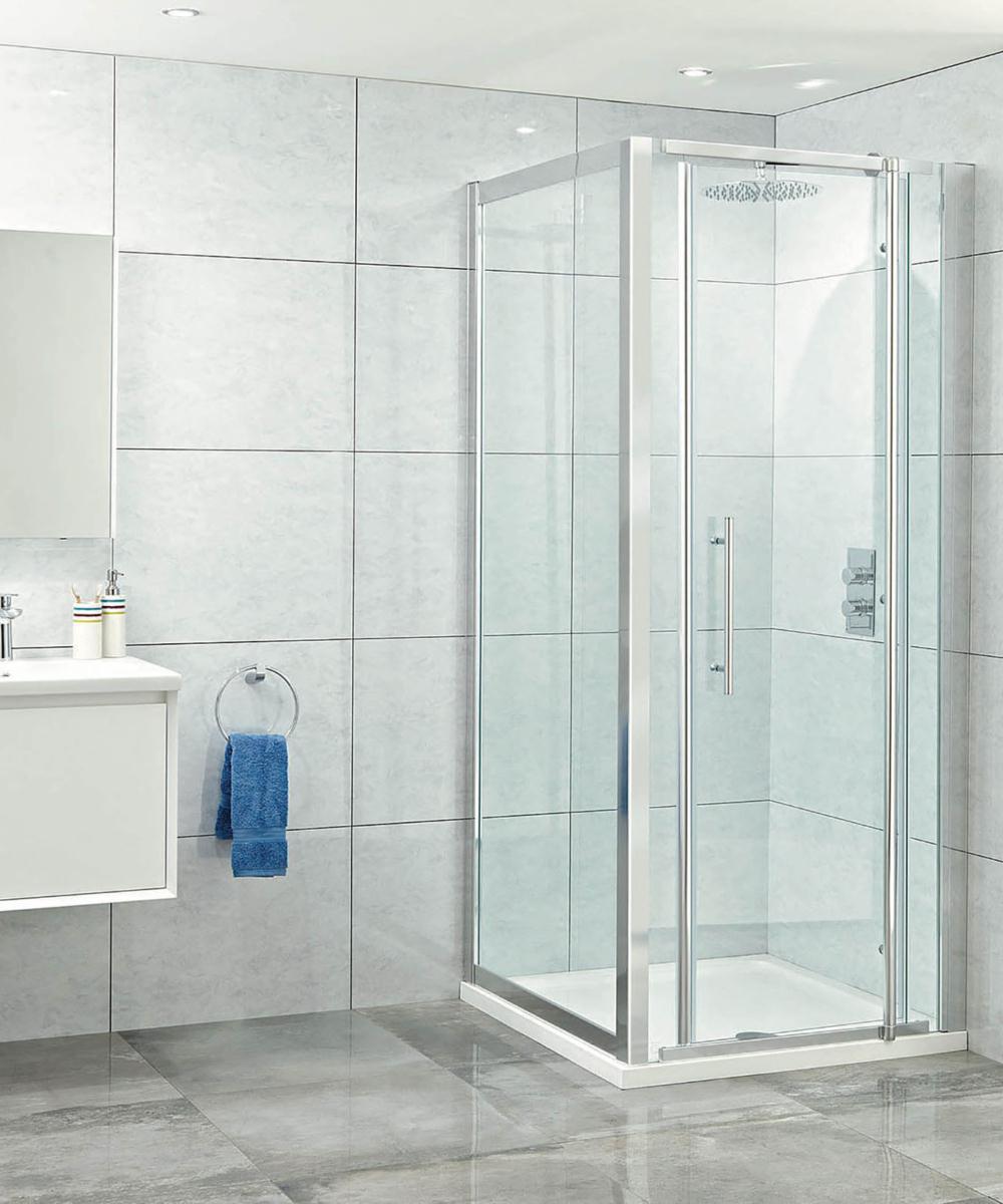 Phoenix elegance 1000mm high polished framed pivot door for 1000mm pivot shower door
