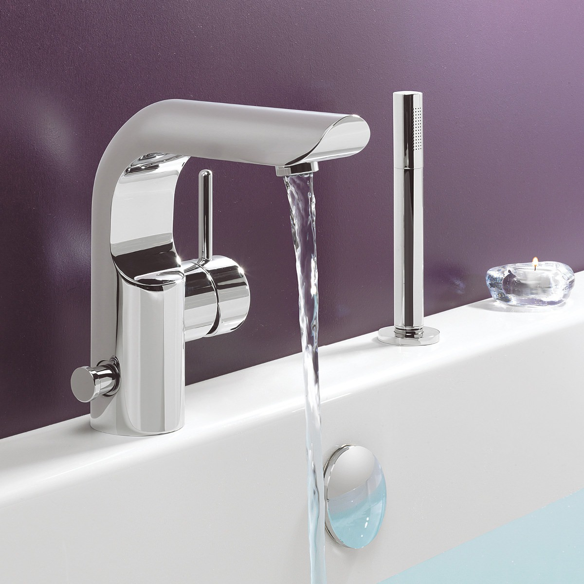 Standard height for towel bar in bathroom - Crosswater Elite Monobloc Bath Shower Mixer Tap With Kit