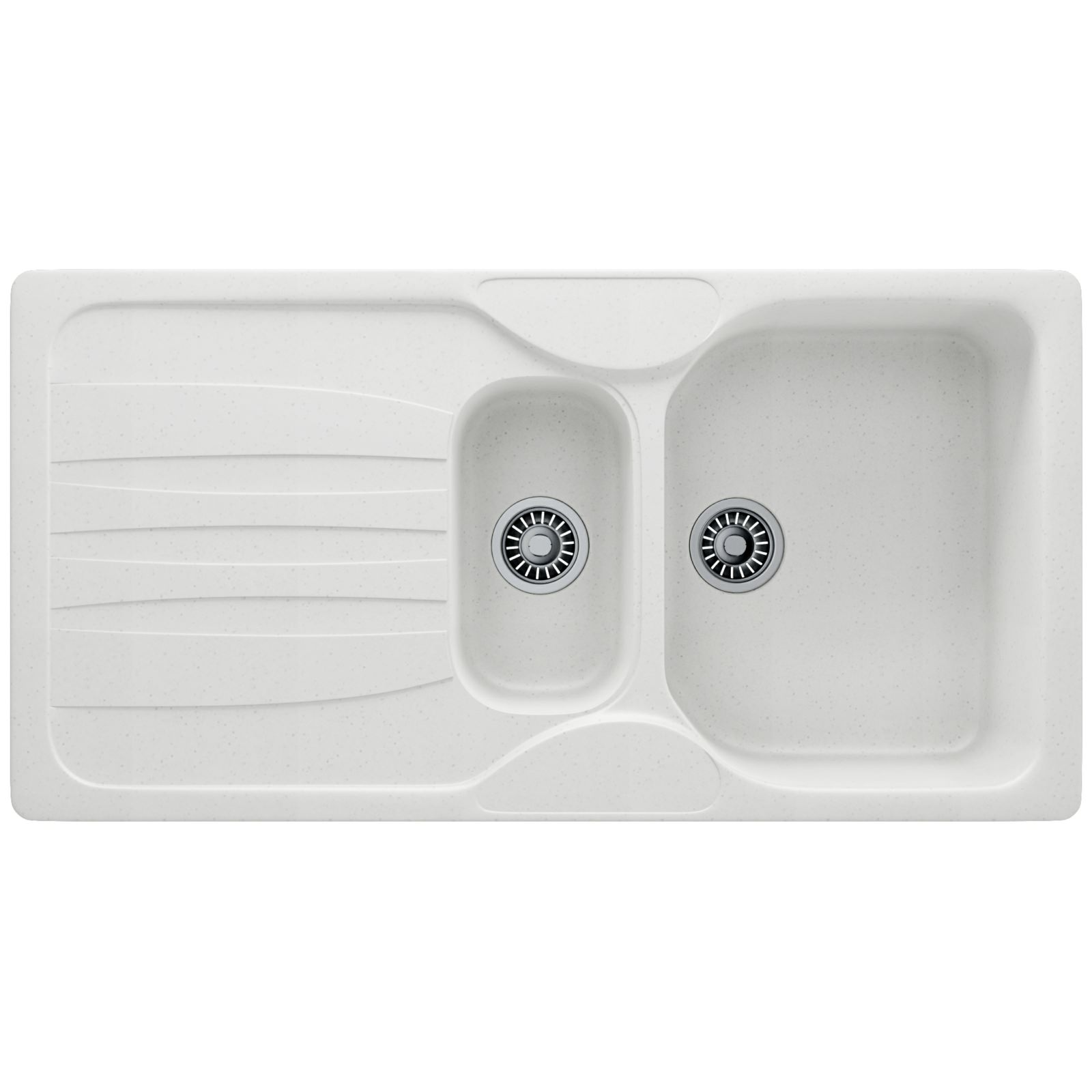 Franke Calypso Sink : Franke Calypso COG 651 Fragranite Polar White 1.5 Bowl Inset Sink ...