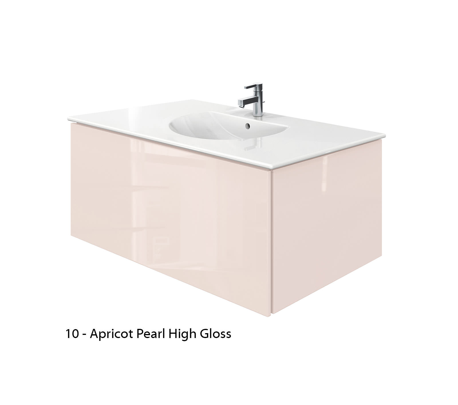 Duravit Delos 1 Compartment Jade High Gloss Unit With