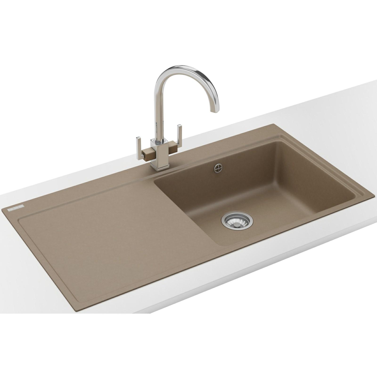 Franke mythos designer pack mtg 611 fragranite oyster sink - Trendy kitchen sinks ...