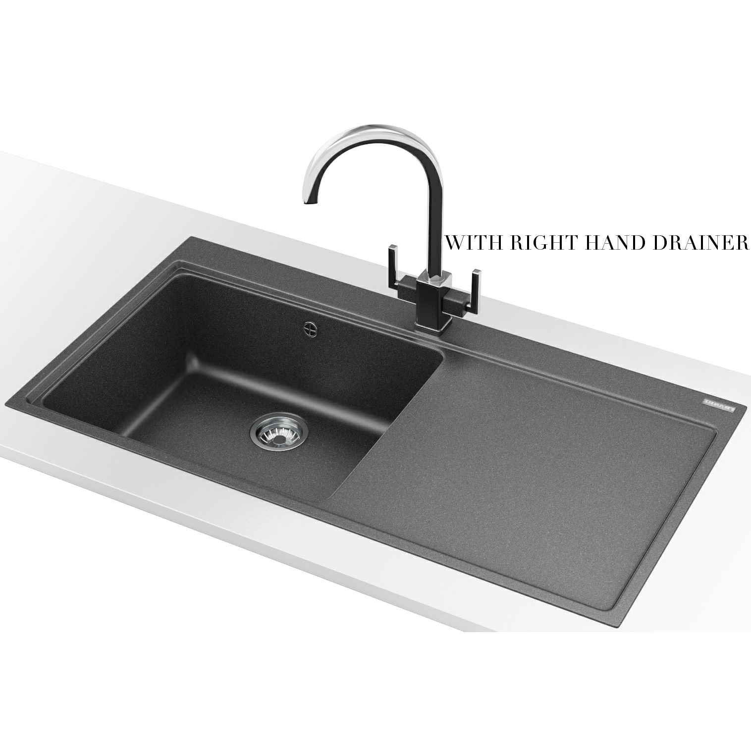 Franke Grey Sink : ... Franke Mythos Designer Pack MTG 611 Fragranite Stone Grey Kitchen Sink