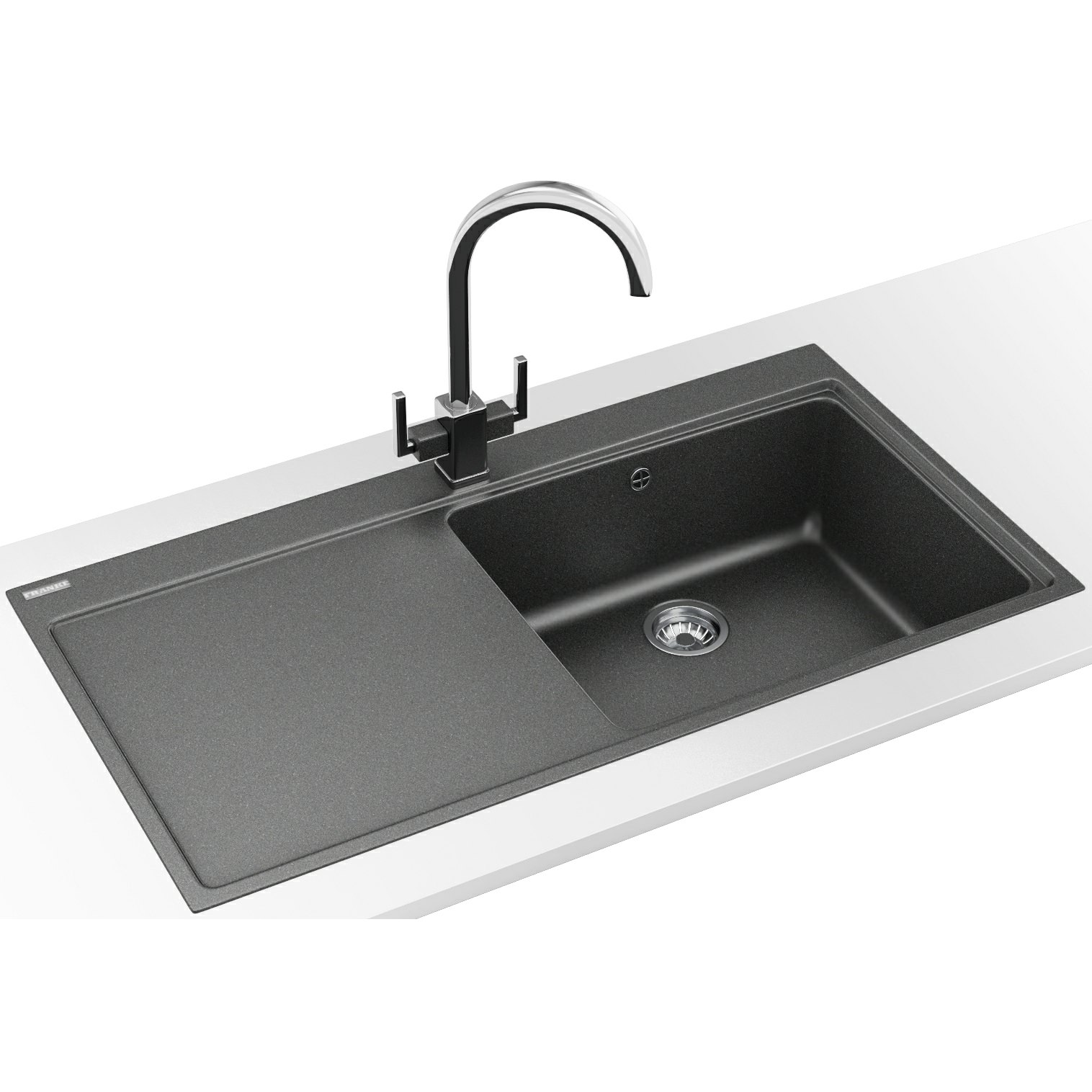 Franke Grey Sink : Franke Mythos Designer Pack MTG 611 Fragranite Stone Grey Kitchen Sink ...