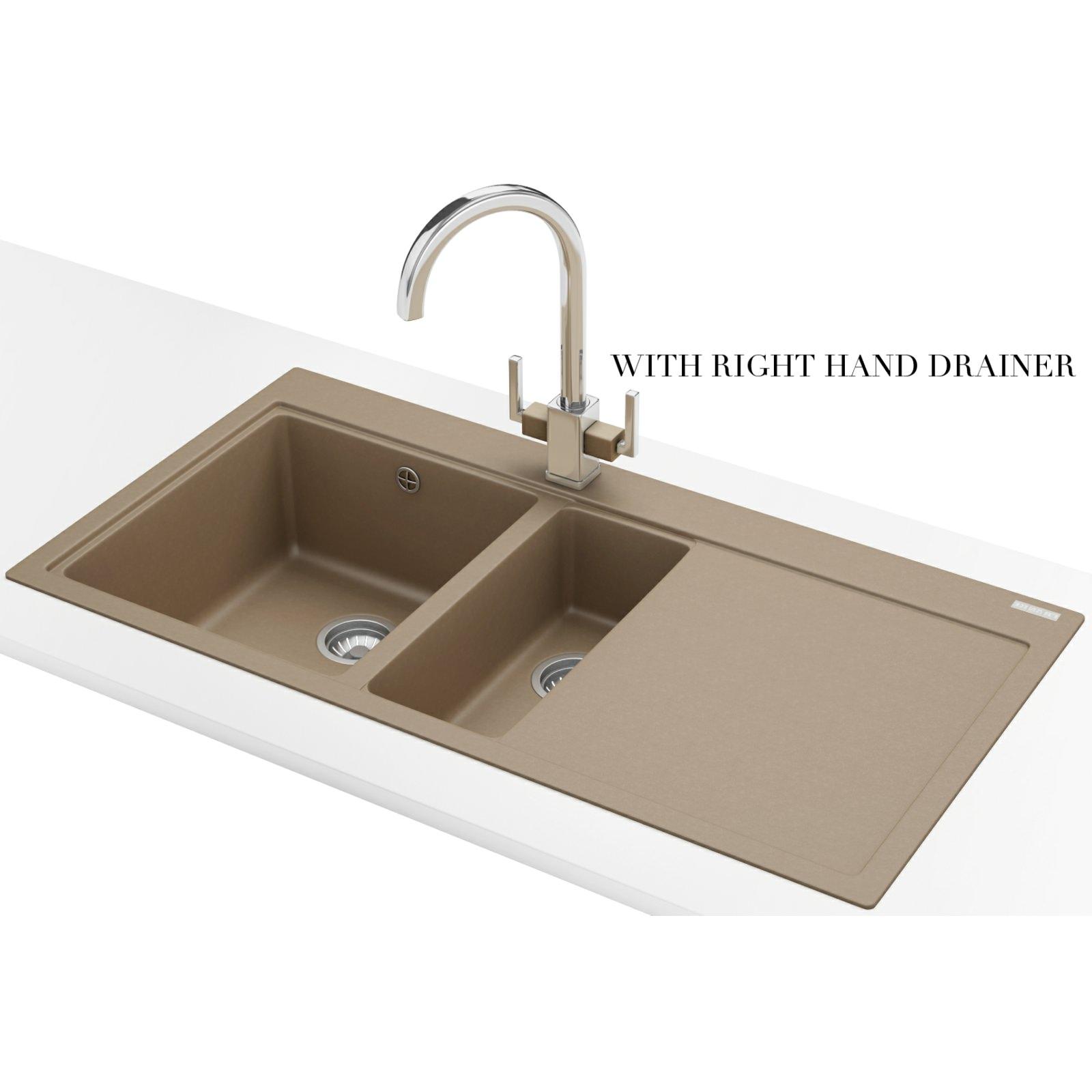 Franke Mythos MTG 651-100 Fragranite Oyster 1.5 Bowl Inset Sink 114 ...