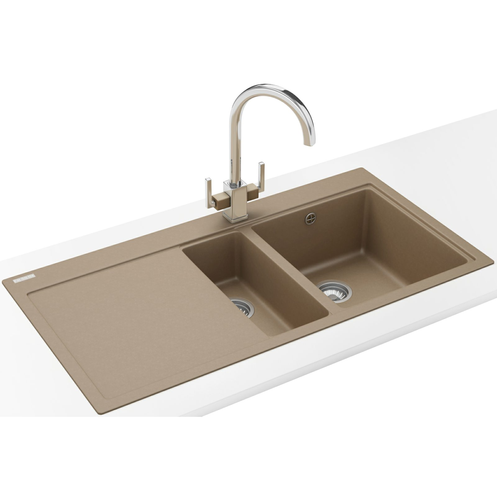 Franke Mythos Designer Pack Mtg 651 100 Fragranite Oyster Sink And Tap