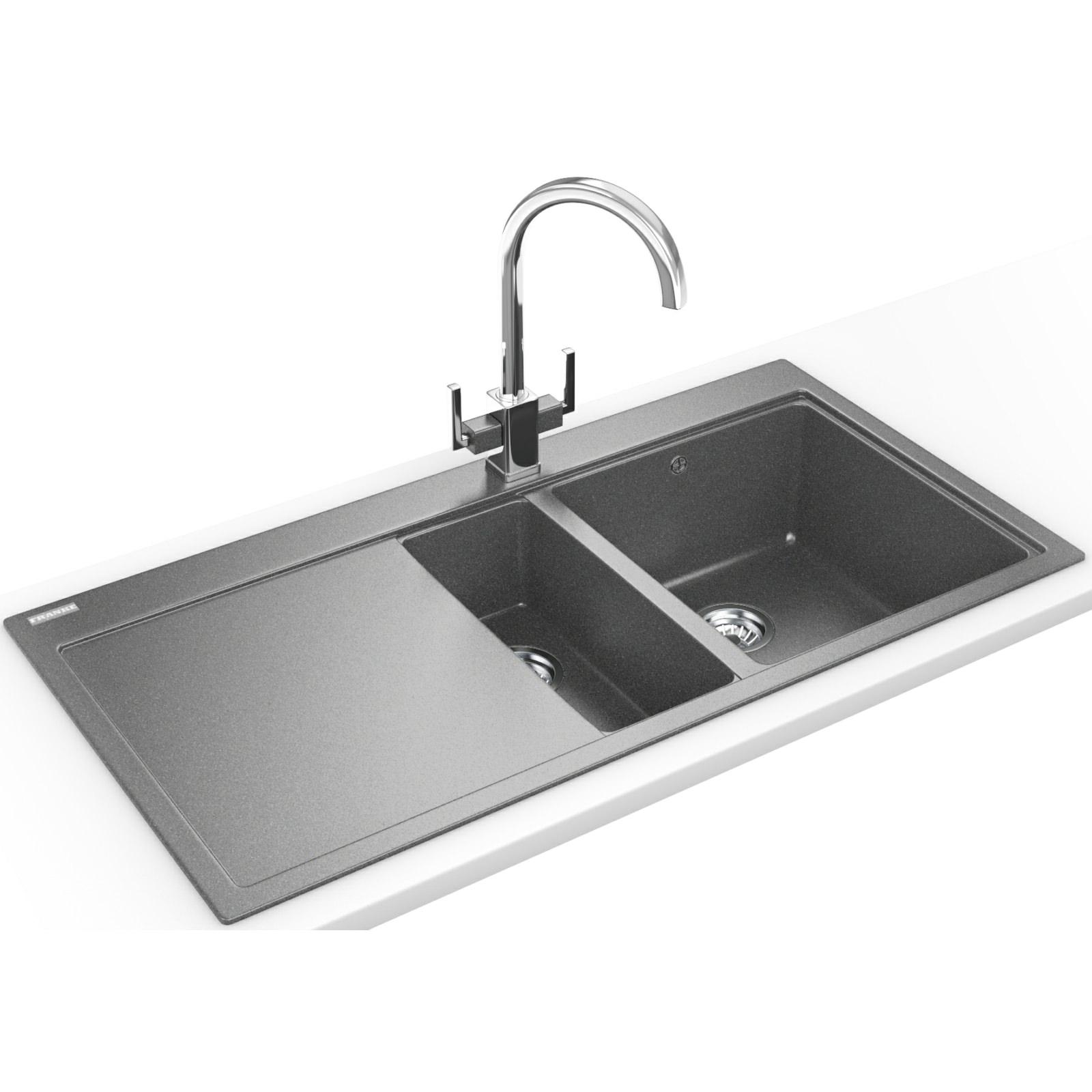 Franke Fragranite Sink Review : Franke Mythos Designer Pack MTG 651-100 Fragranite Stone Grey Sink And ...