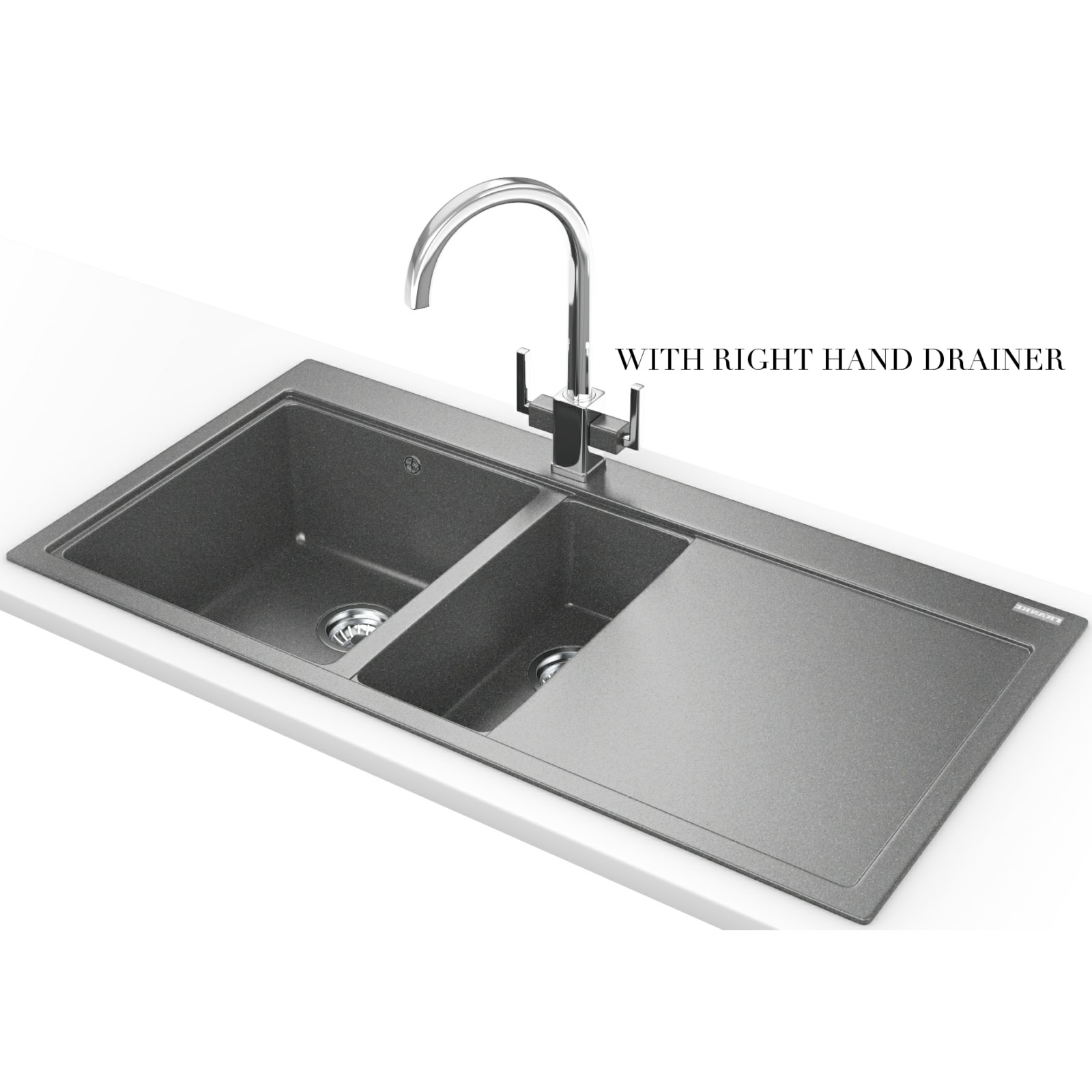 Franke Grey Sink : Franke Mythos MTG 651-100 Fragranite Stone Grey 1.5 Bowl Inset Sink ...