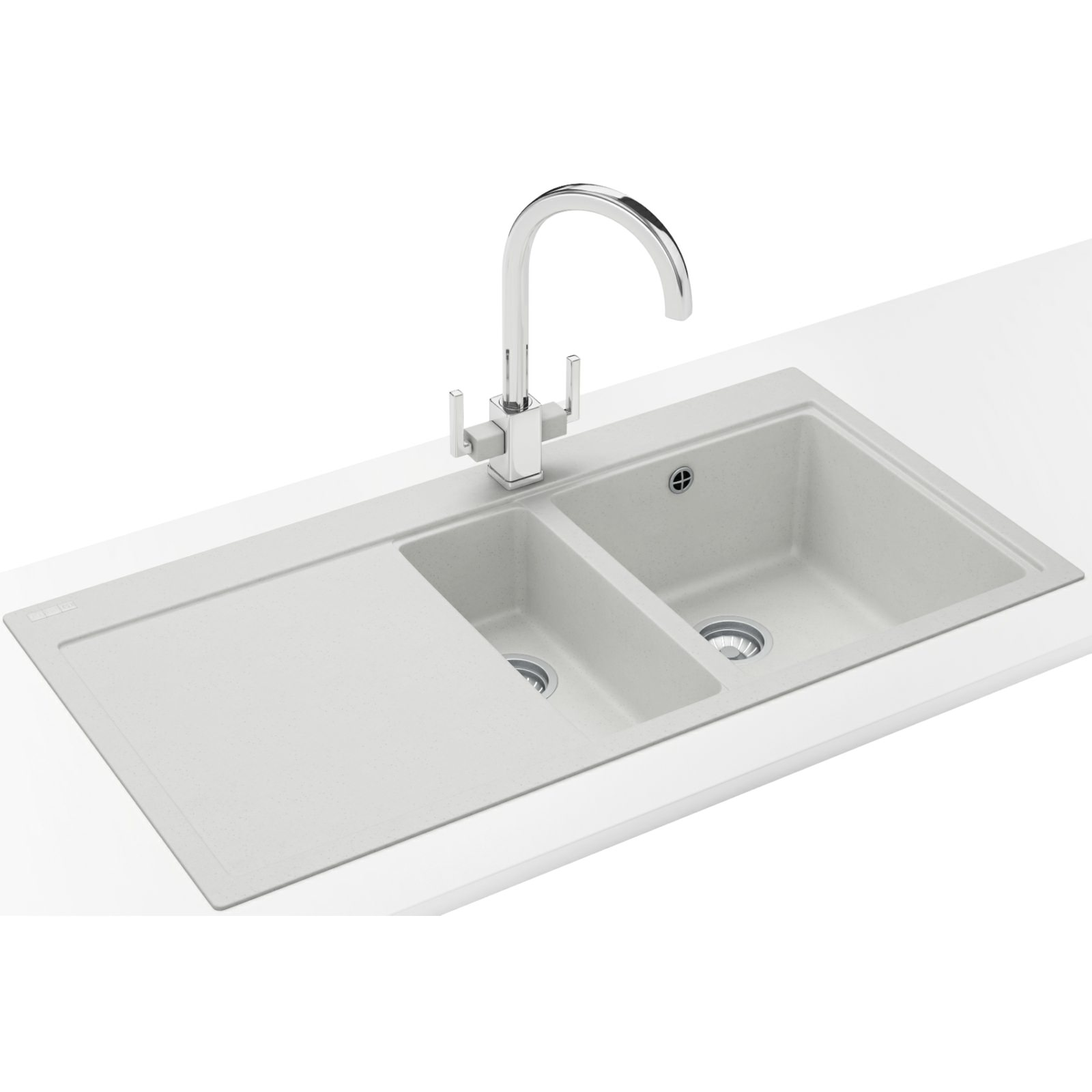Franke Mythos Designer Pack MTG 651-100 Fragranite Polar White Sink ...