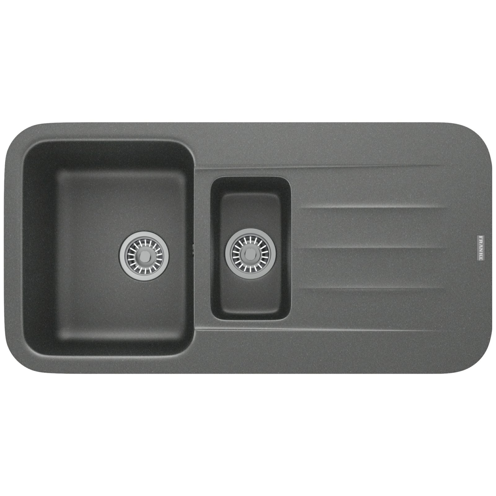 Franke Grey Sink : Franke Pebel PBG 651 Fragranite Stone Grey 1.5 Bowl Inset Sink 114 ...