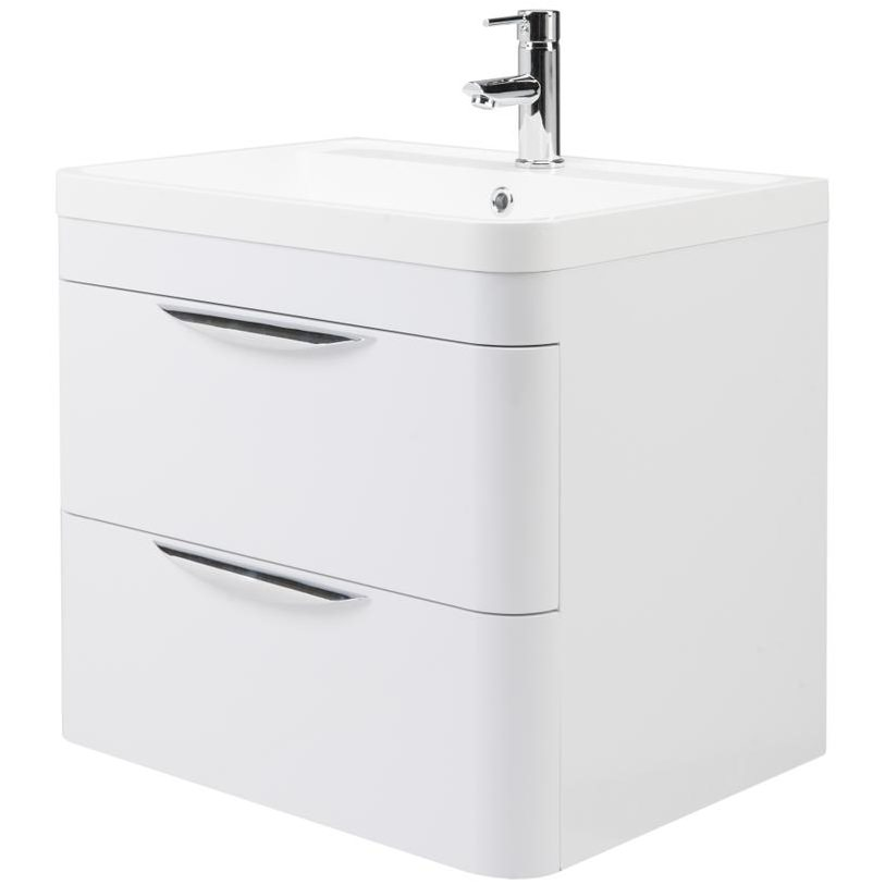 Premier Parade 600mm 2 Drawer Wall Hung Cabinet And Basin Fpa002
