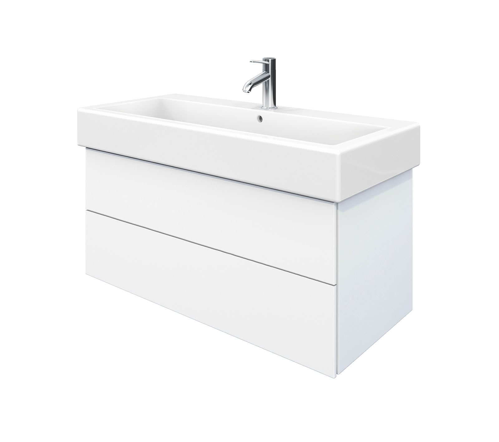 Duravit delos 2 drawers unit with vero 1000mm basin for 1000mm kitchen drawer unit