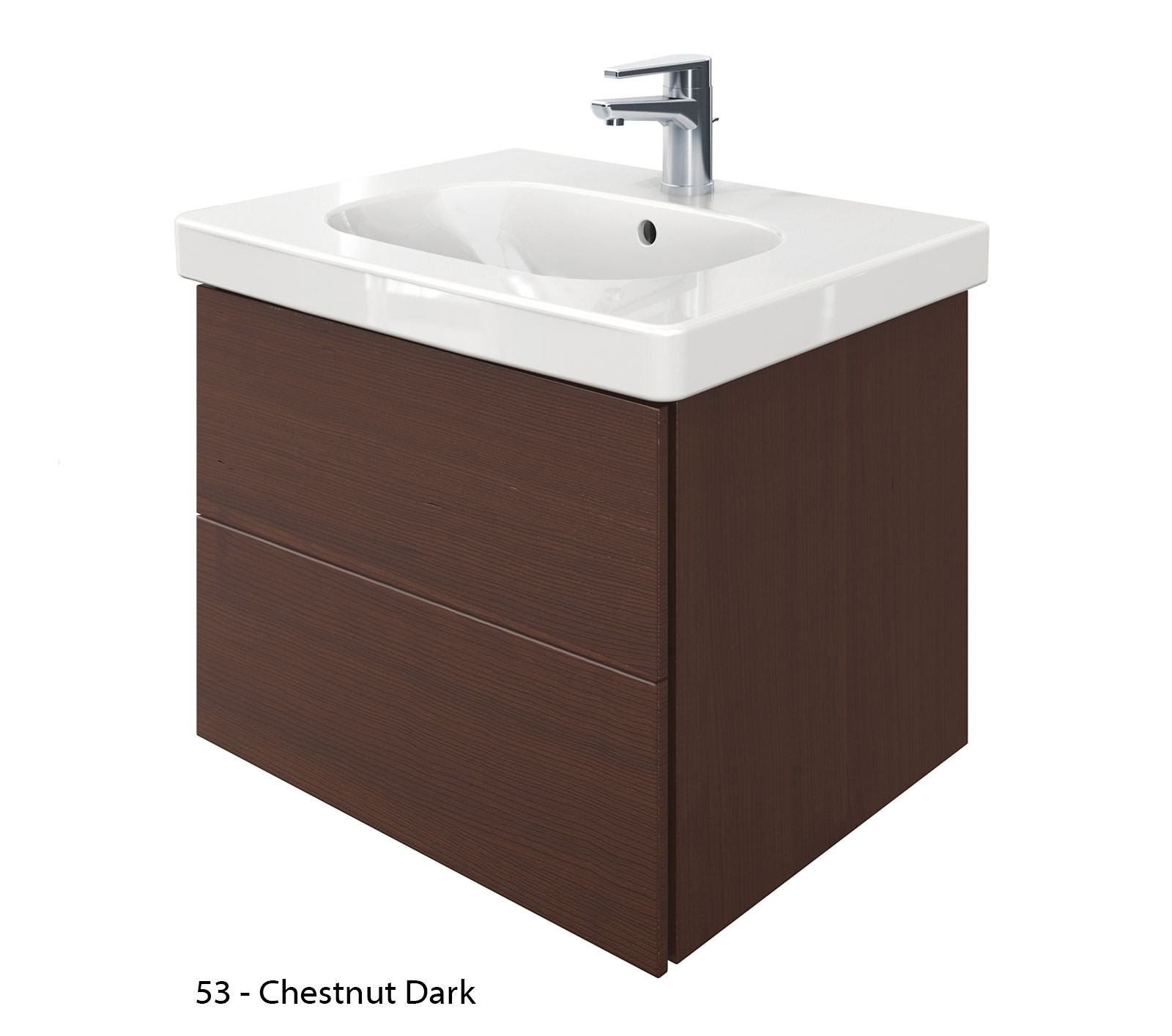 Duravit delos 2 drawers unit with d code 650mm basin - Duravit bathroom furniture uk ...