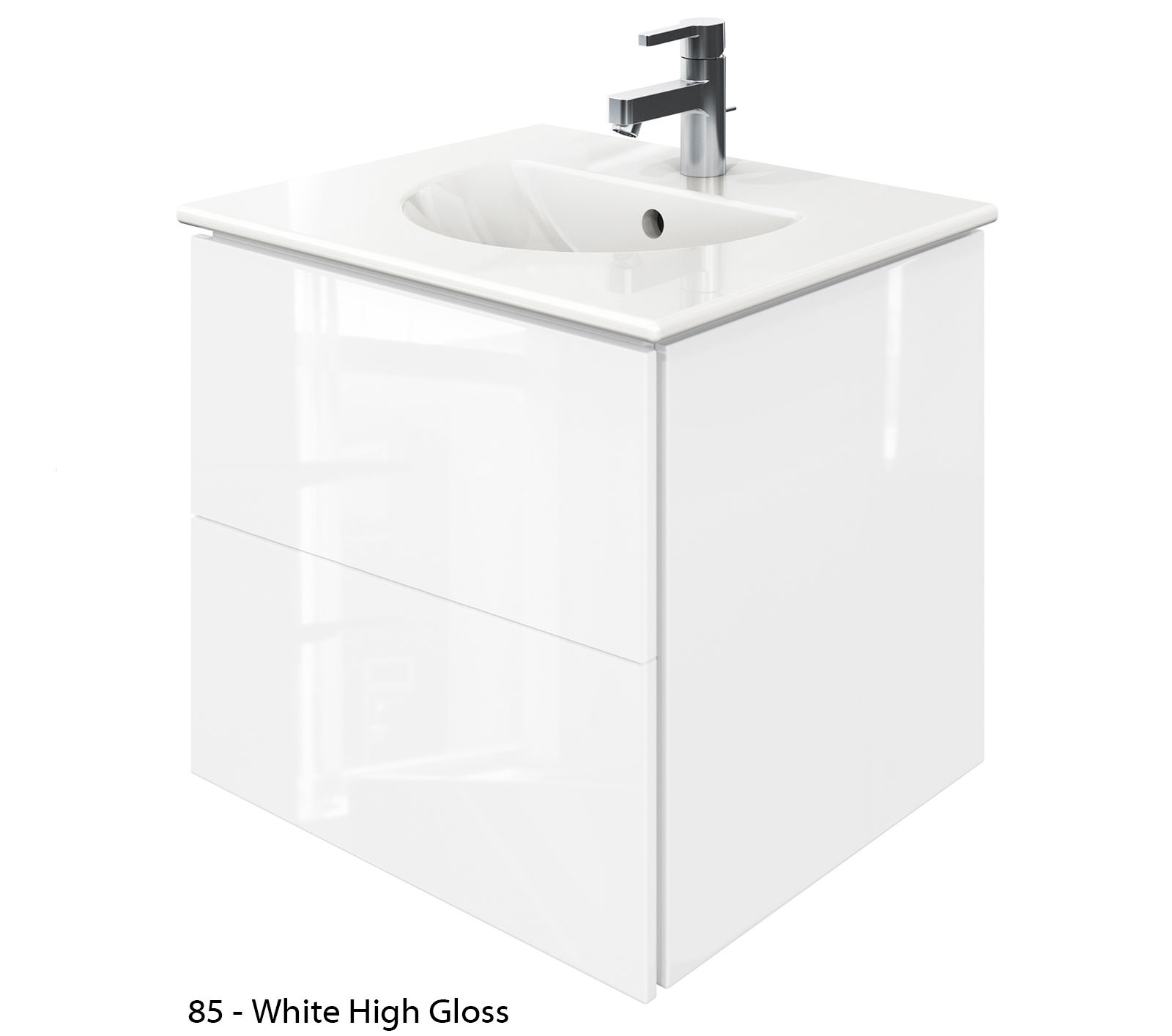 Duravit delos 2 drawers jade high gloss unit with 530mm basin - Duravit bathroom furniture uk ...