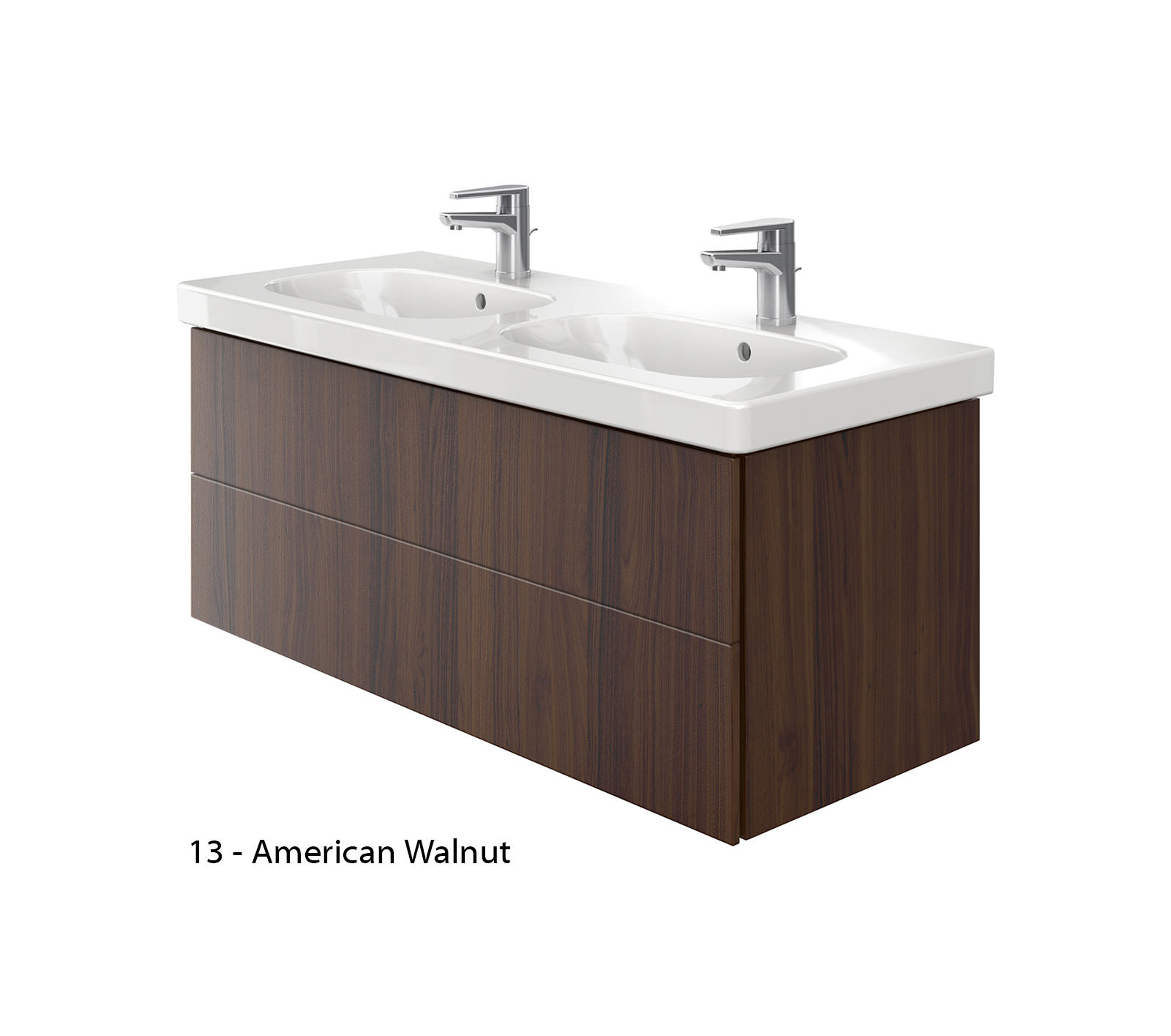 Duravit delos 2 drawers unit with d code 1200mm basin - Duravit bathroom furniture uk ...