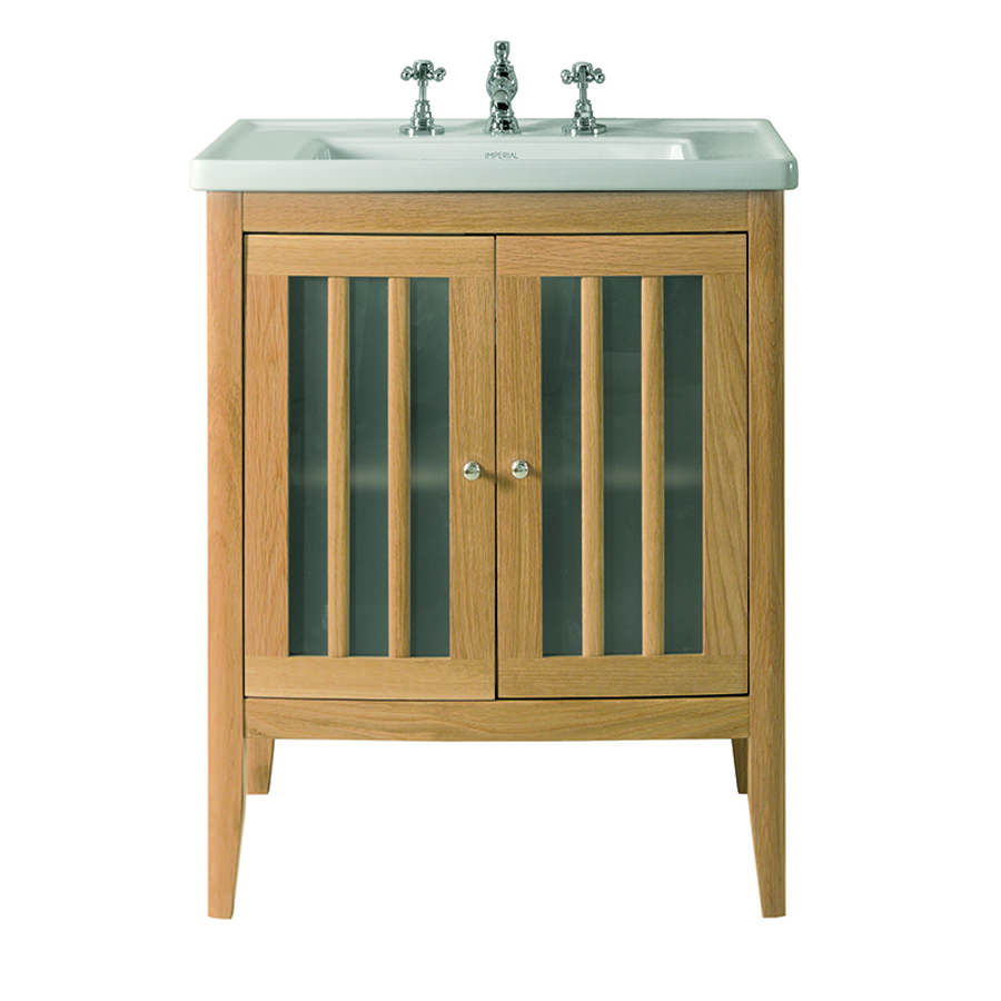 Imperial radcliffe linea vanity unit with wood or frosted - Bathroom vanity with frosted glass doors ...