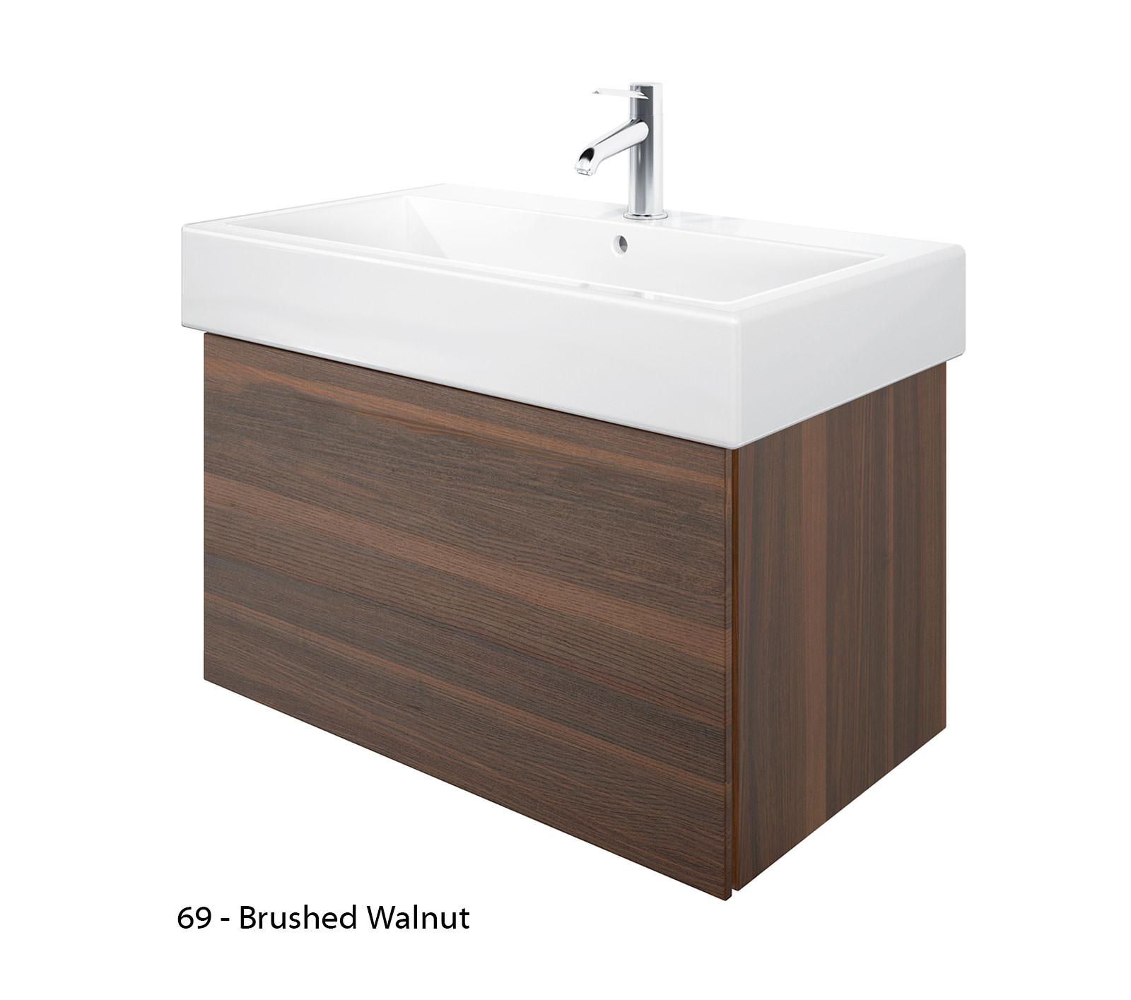 Duravit delos 1 compartment brushed oak unit with 800mm basin - Duravit bathroom furniture uk ...