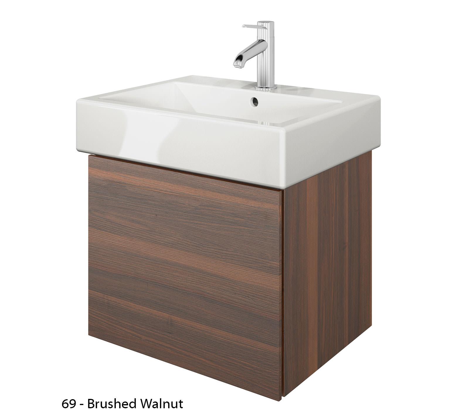 Duravit delos 1 compartment brushed oak unit with vero - Duravit bathroom furniture uk ...
