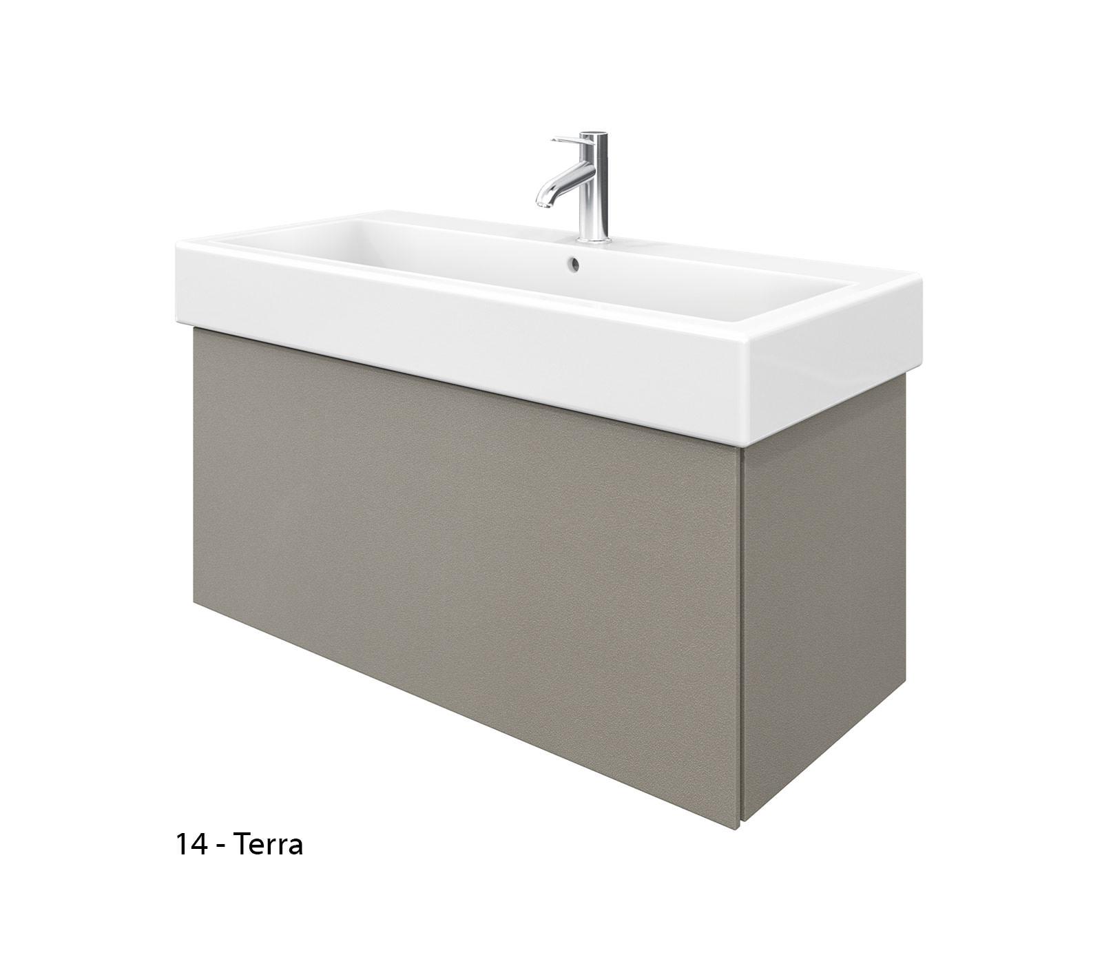 Duravit delos 1 compartment unit with vero 1000mm basin - Duravit bathroom furniture uk ...