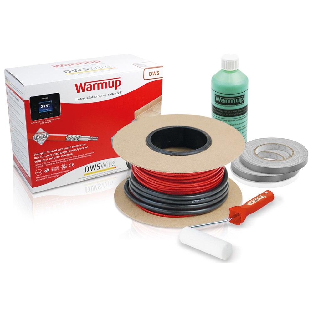 Electric Bathroom Floor Heating: Warmup Loose Wire Underfloor Heating Electric System
